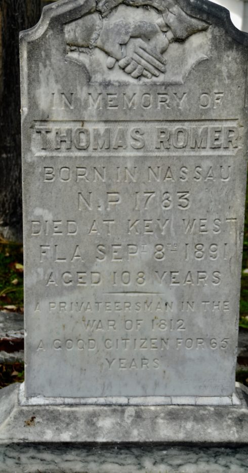 Thomas Romer, Key West Cemetery