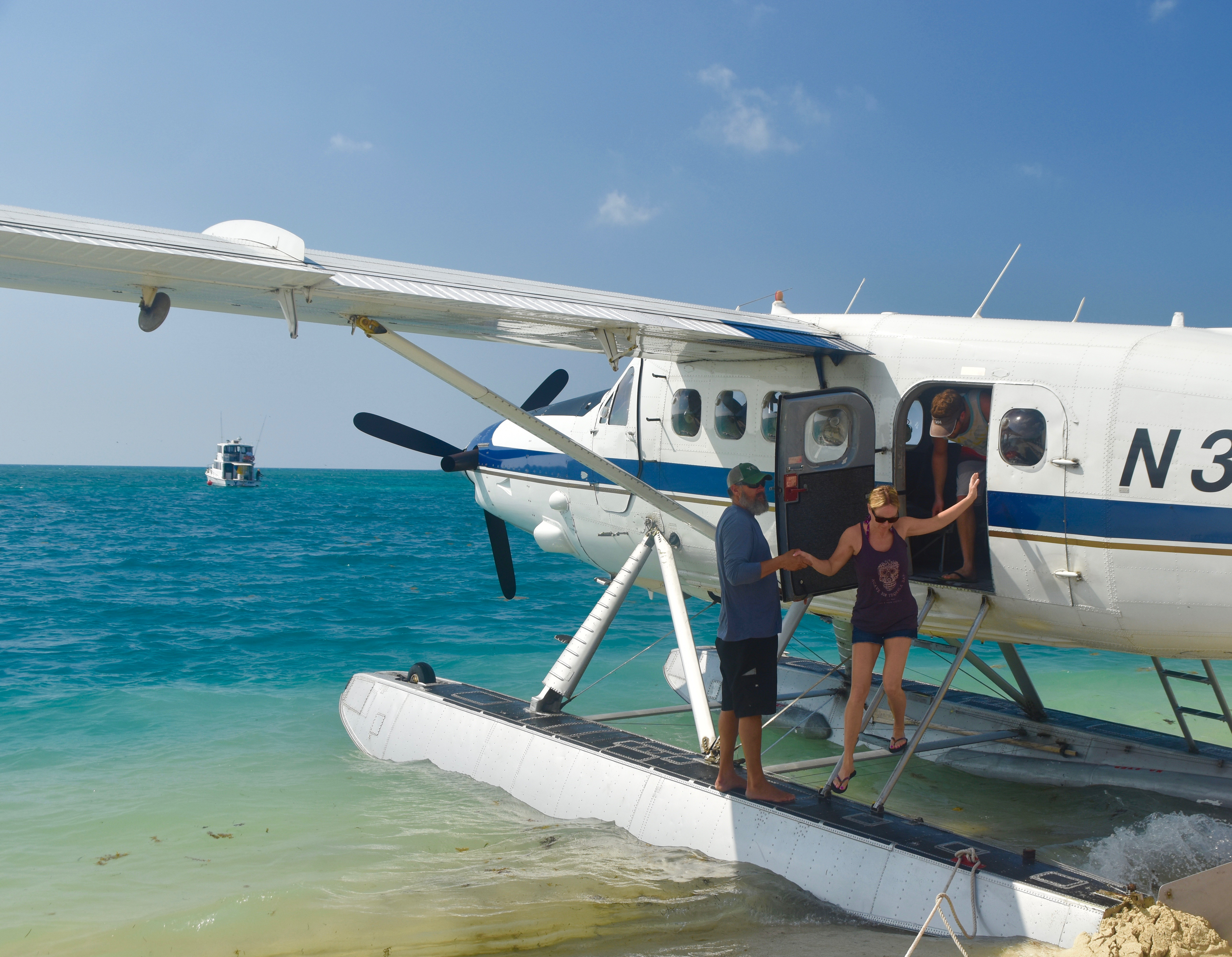 Disembarking on the Dry Tortugas