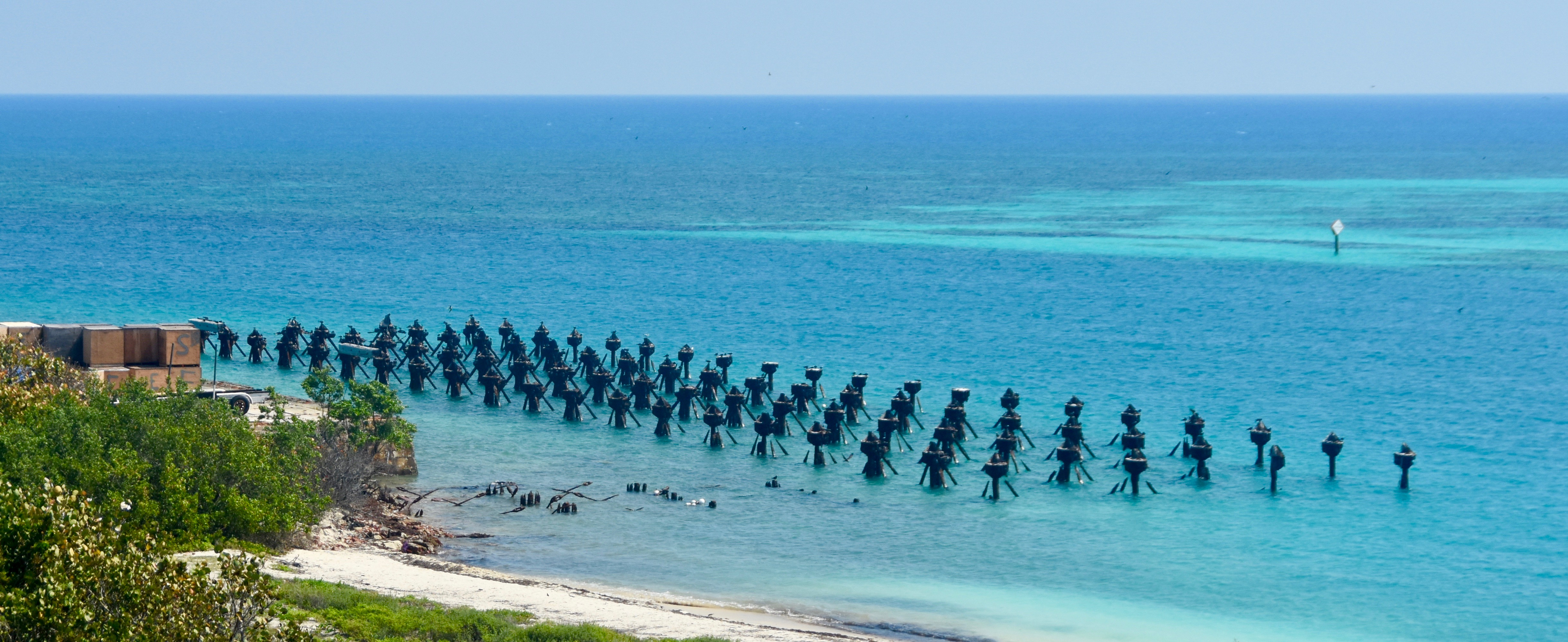 Remains of Coaling Pier, Dry Tortugas