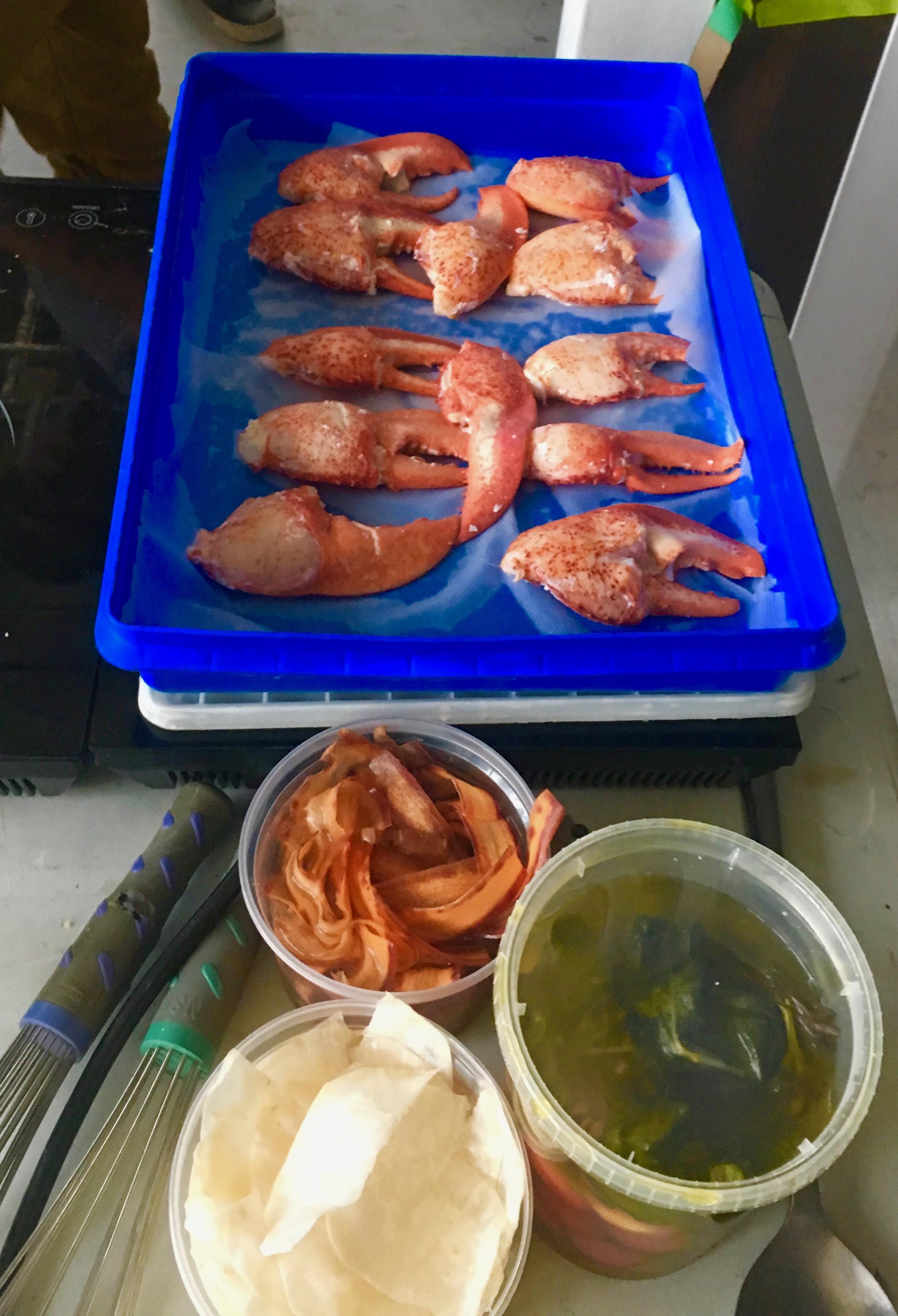 Iles de la Madelaine lobster claws