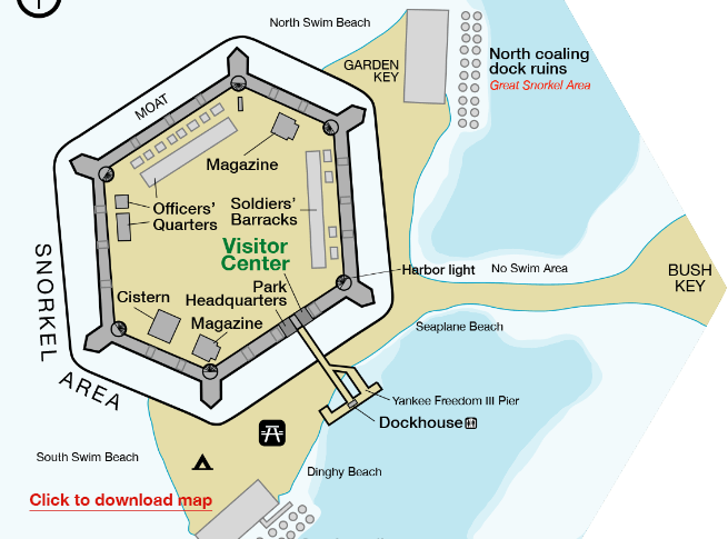 Map of Fort Jefferson