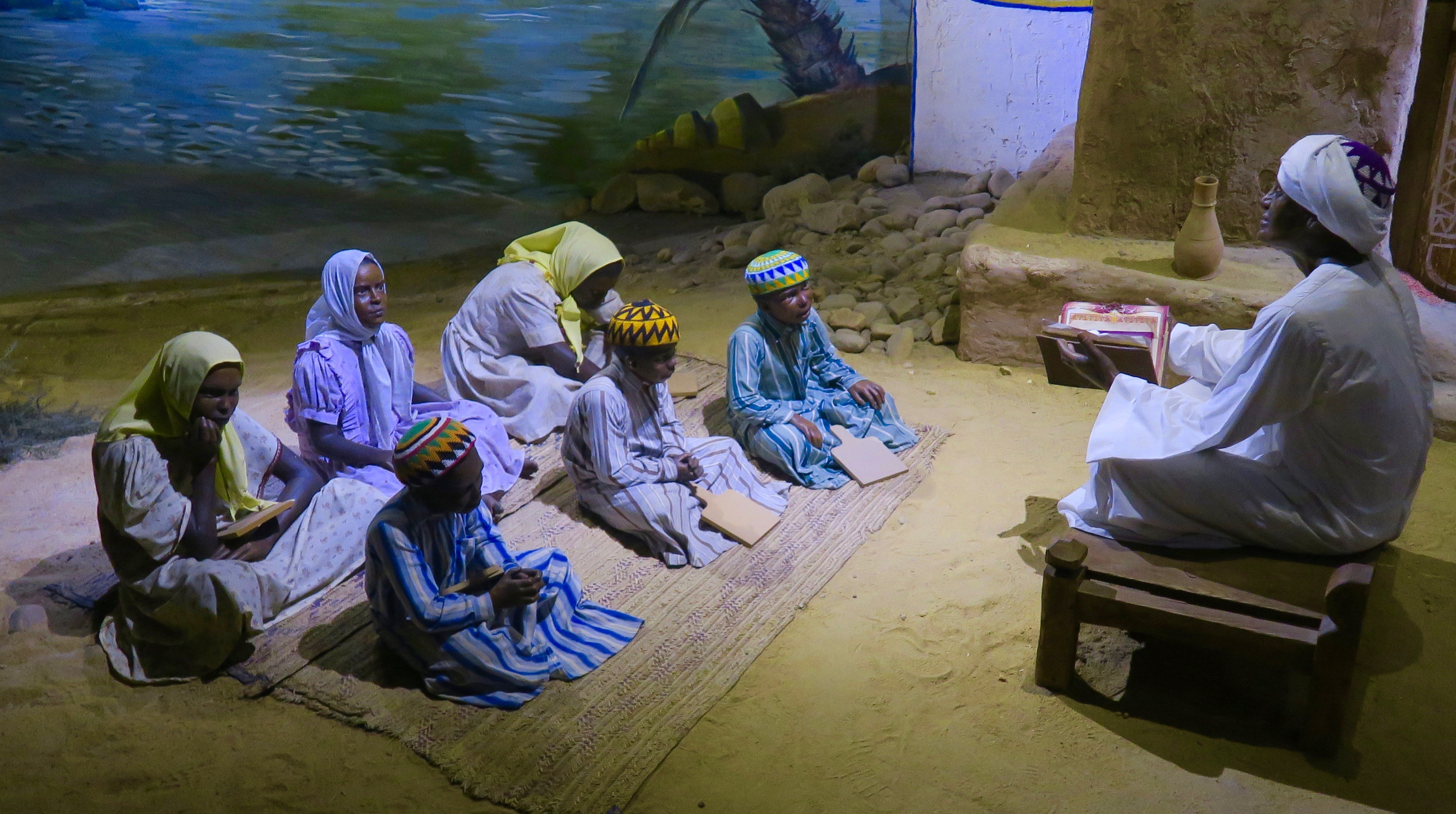 Diorama of Nubian School