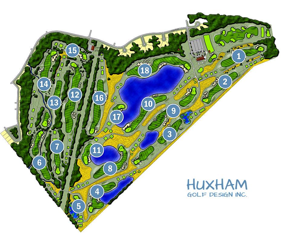La Tempete Golf Course Map