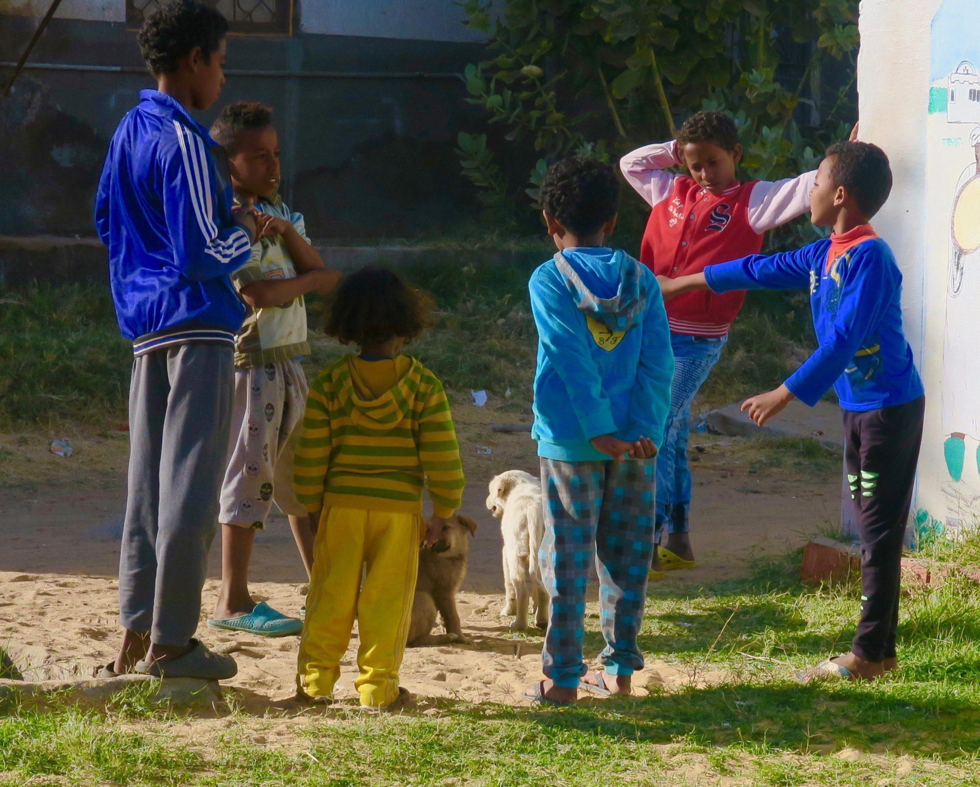 Nubian Kids, Nubian Village Aswan