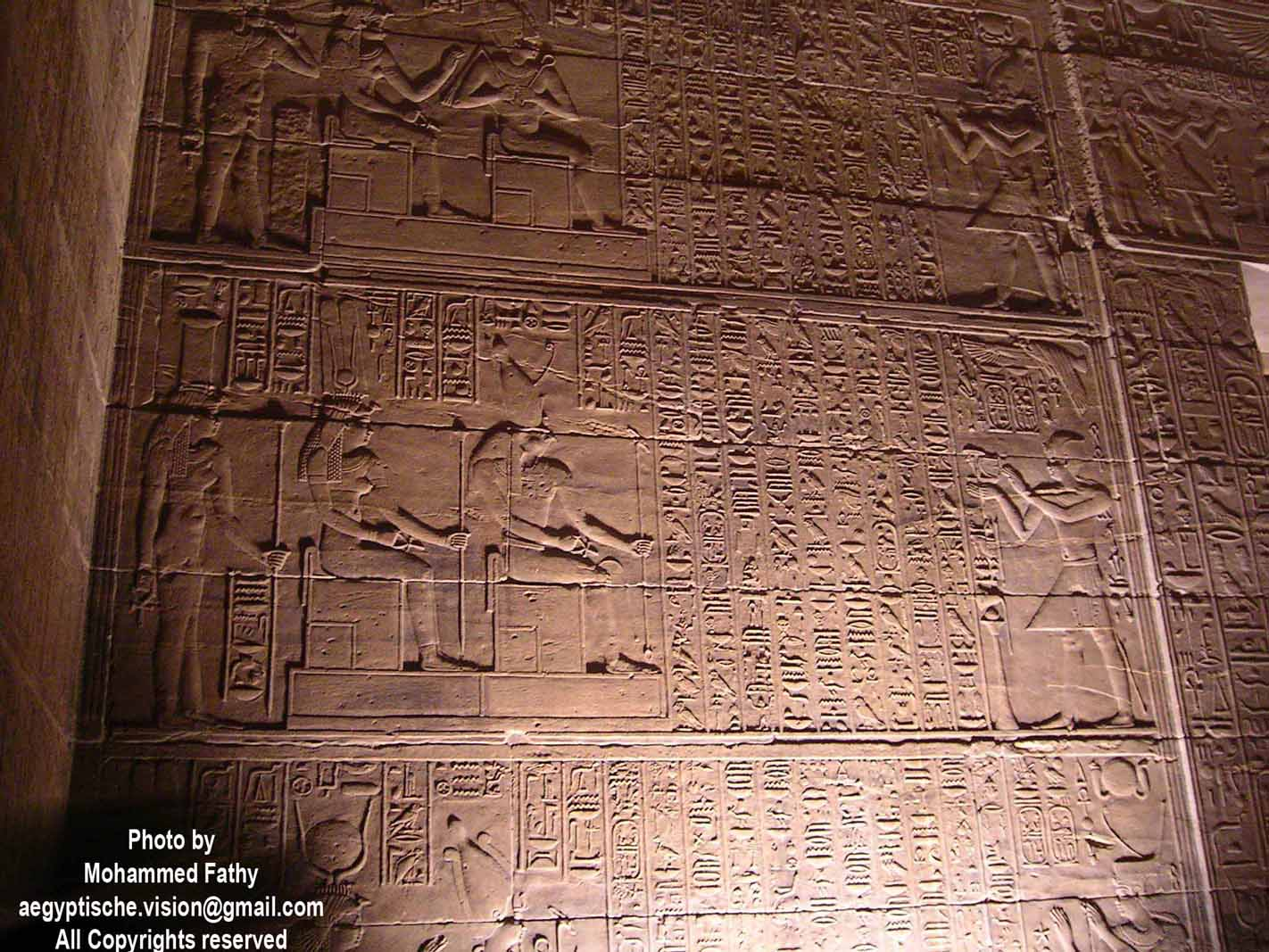 Carvings & Hieroglyphs iInside the Temple of Isis