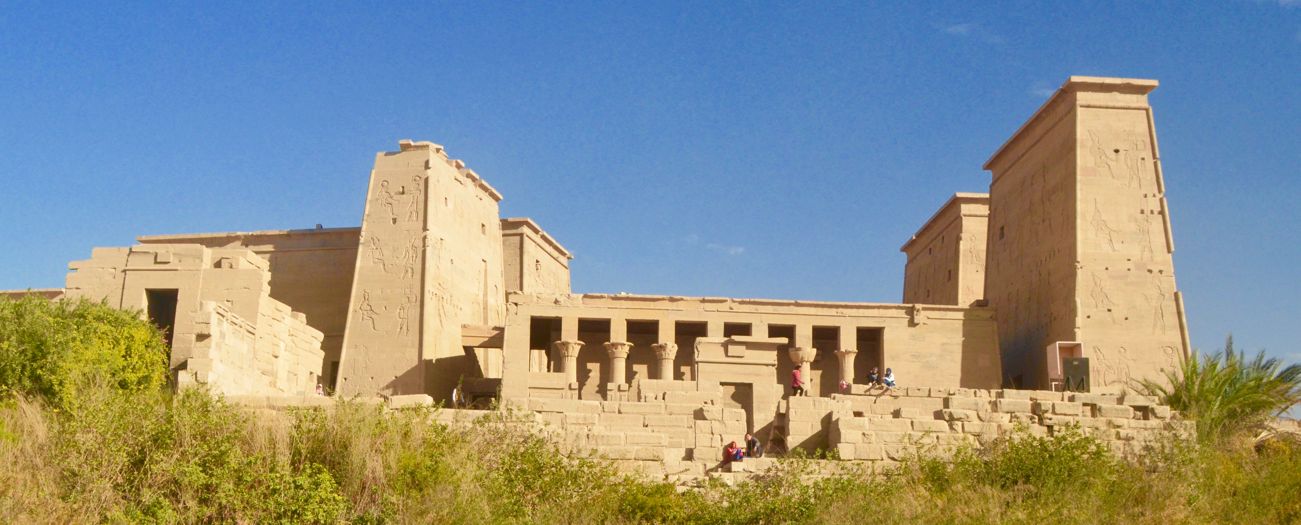 Philae Temples - Temple of Isis from the Nile