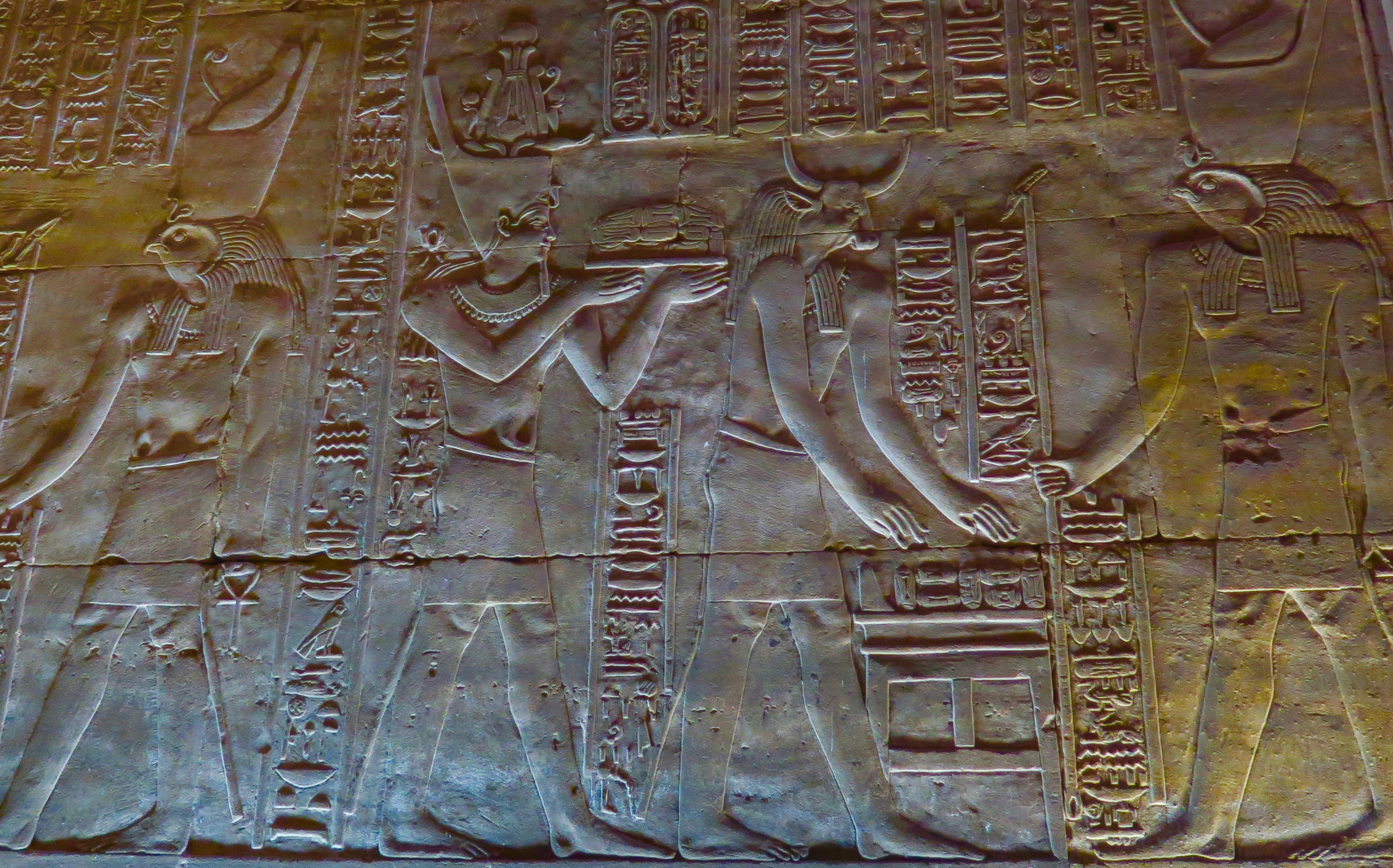 Offerings to Horus, Edfu