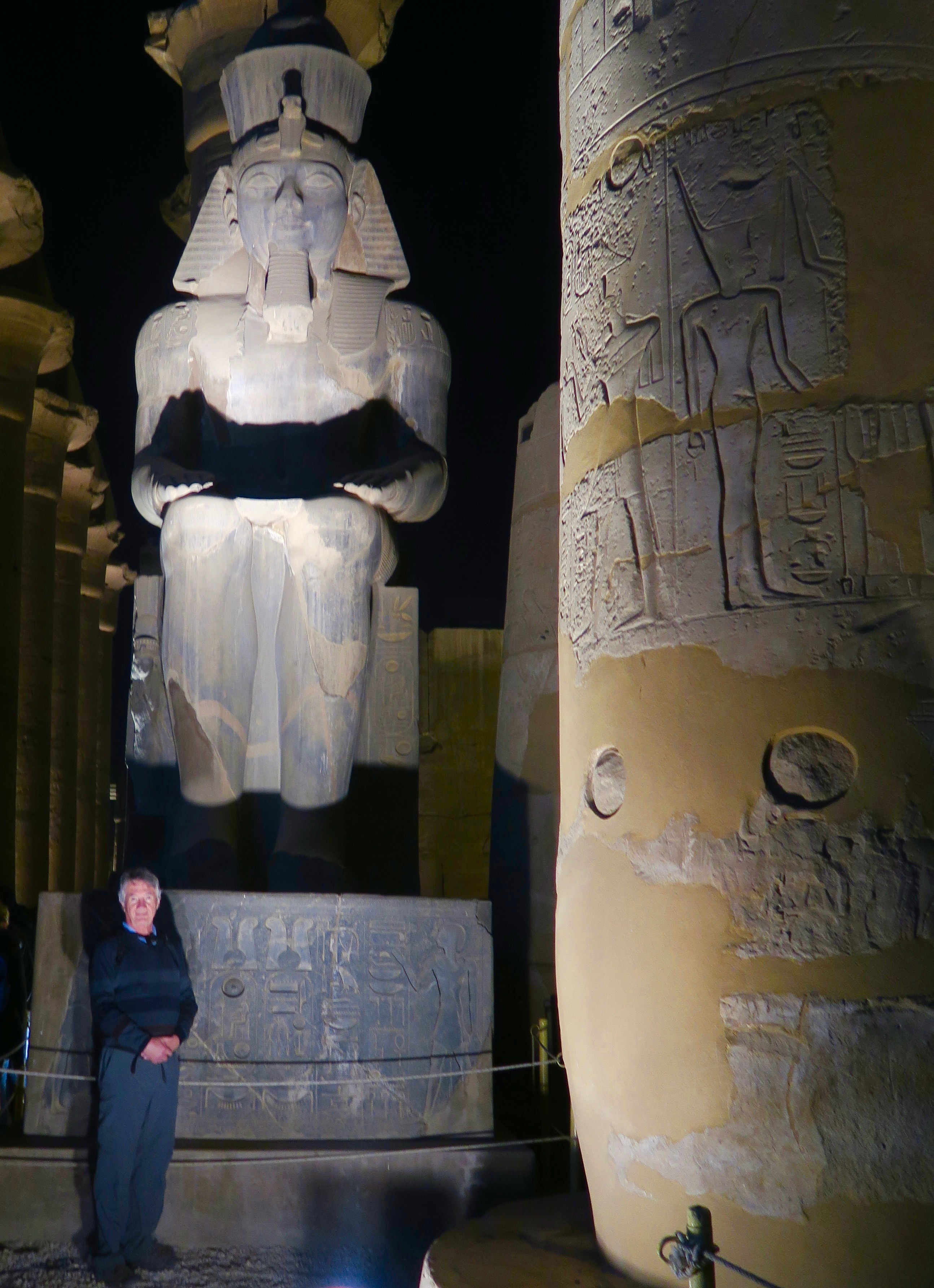 With Ramses II in Luxor Temple