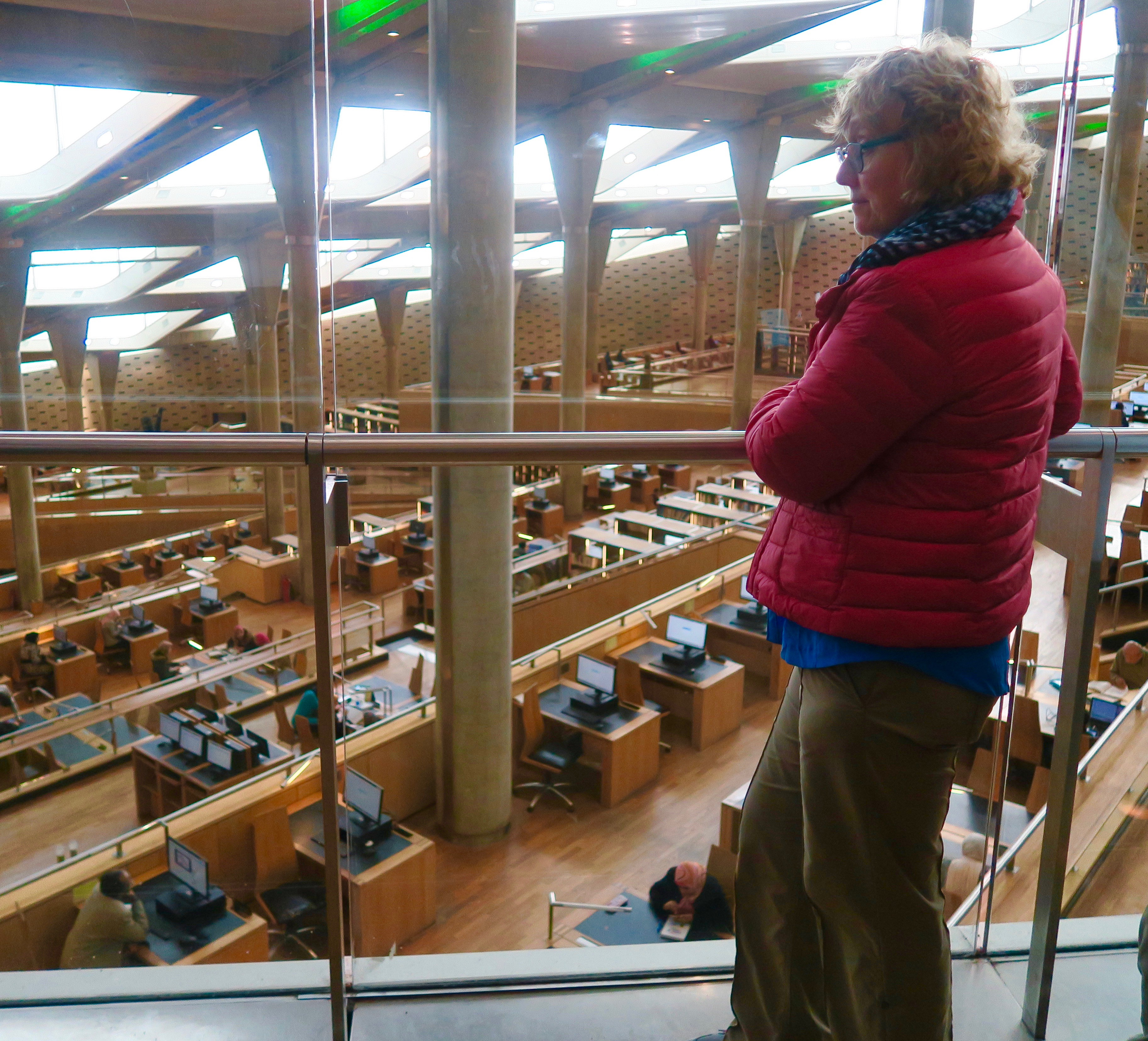 Alison in the Library of Alexandria