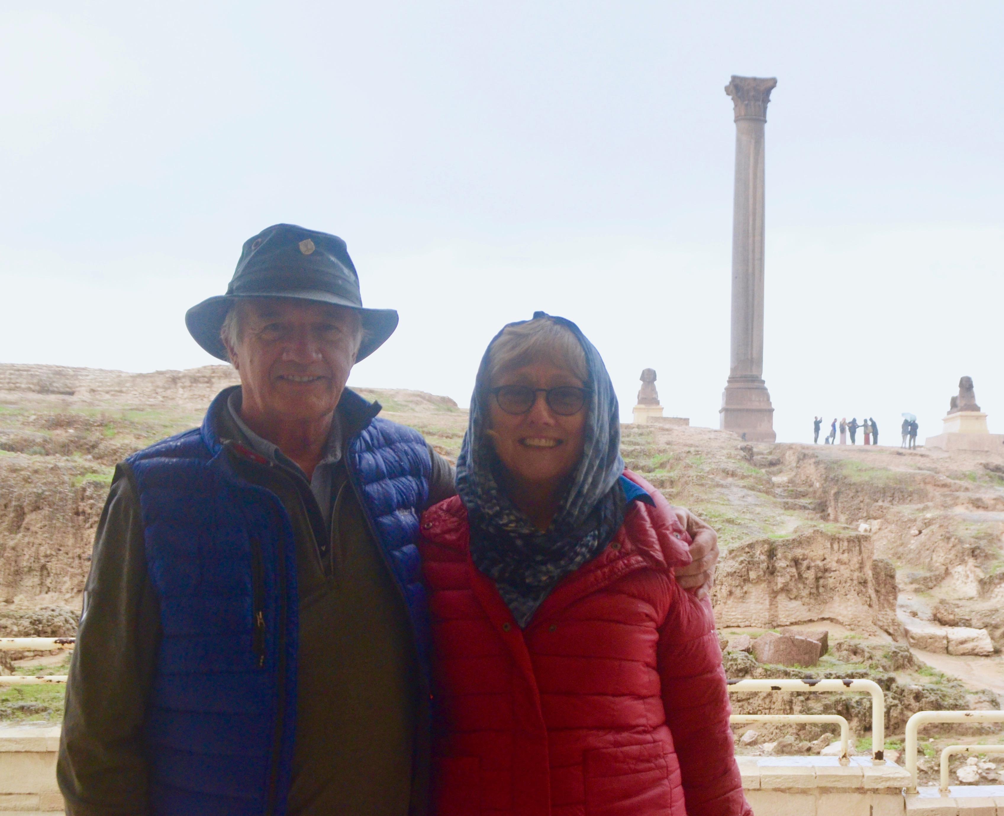 At Pompey's Pillar