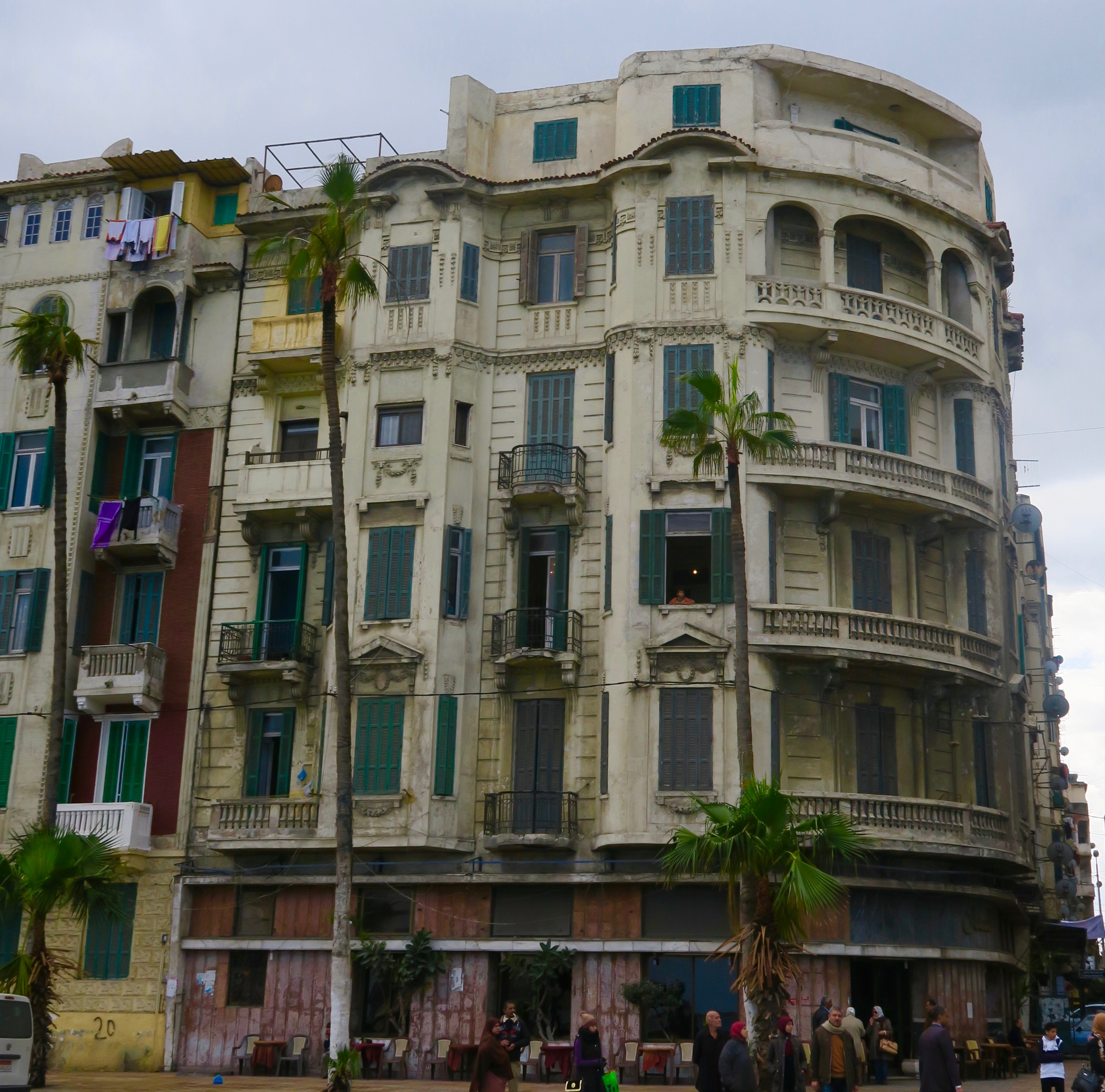 Crumbling Buildings on the Alexandria Corniche