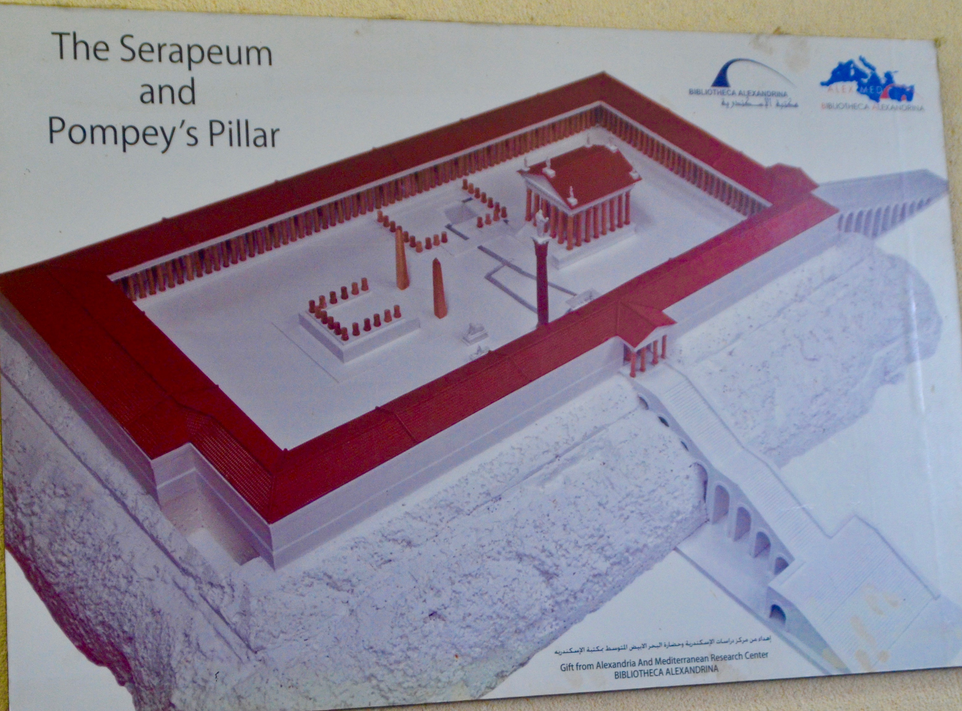 Plan of Serapeum, Alexandria