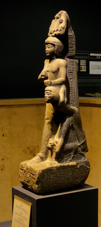 Ramses VI with a Libyan Prisoner, Luxor Musem