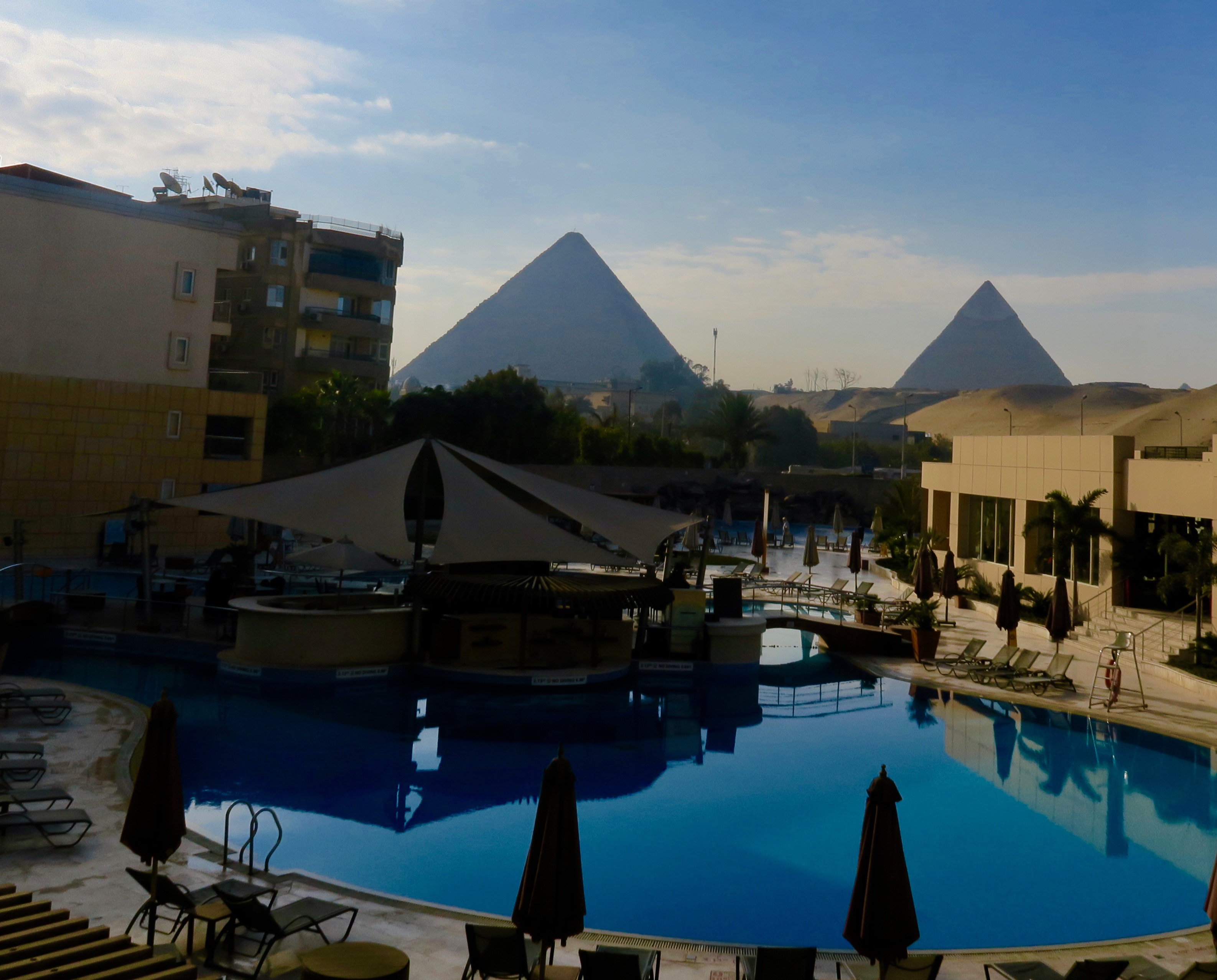 View from Meridien Pyramids Hotel