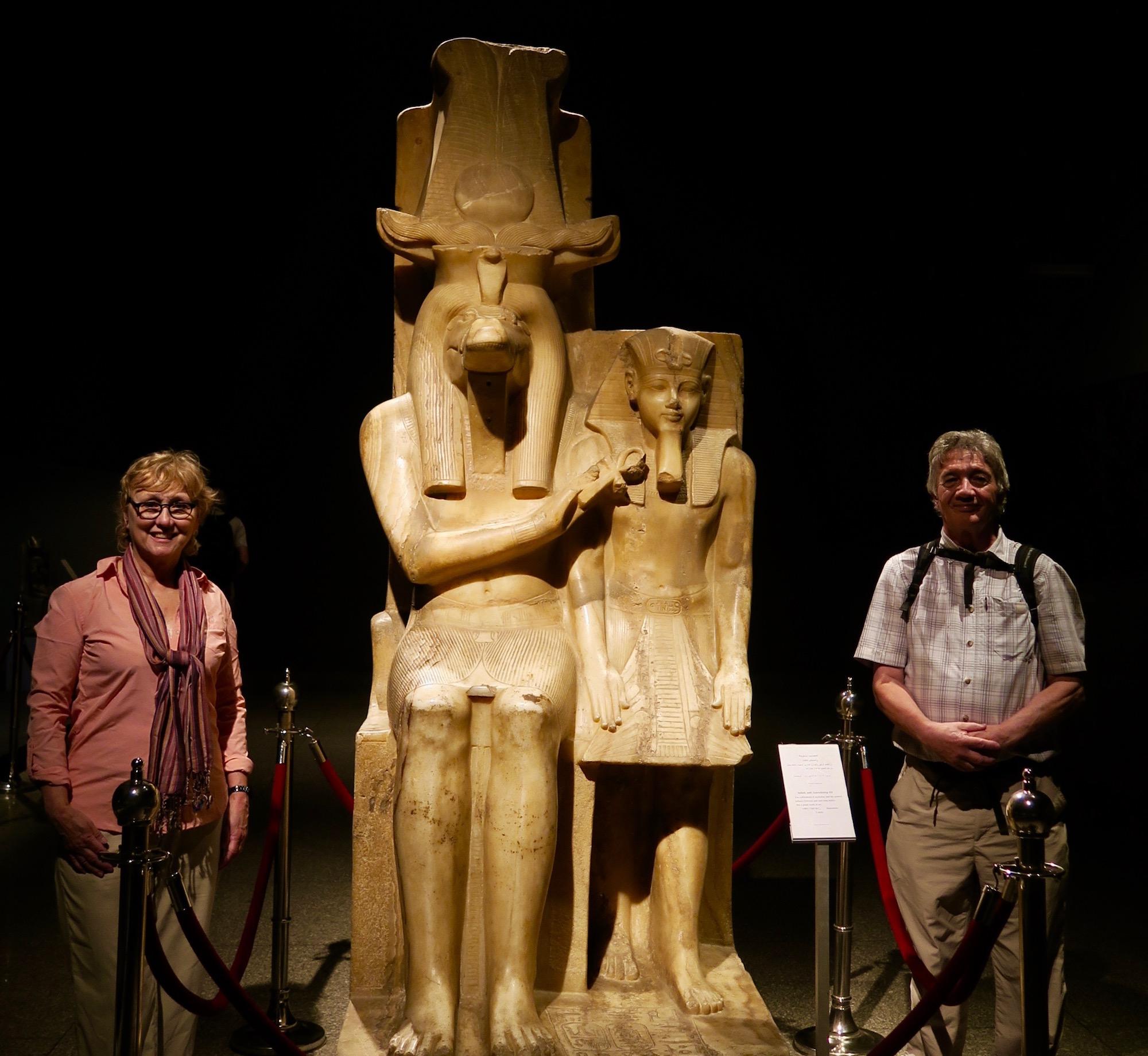 With Sobek & Amenhotep III, Luxor Museum