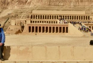 At the Temple of Hatshepsut