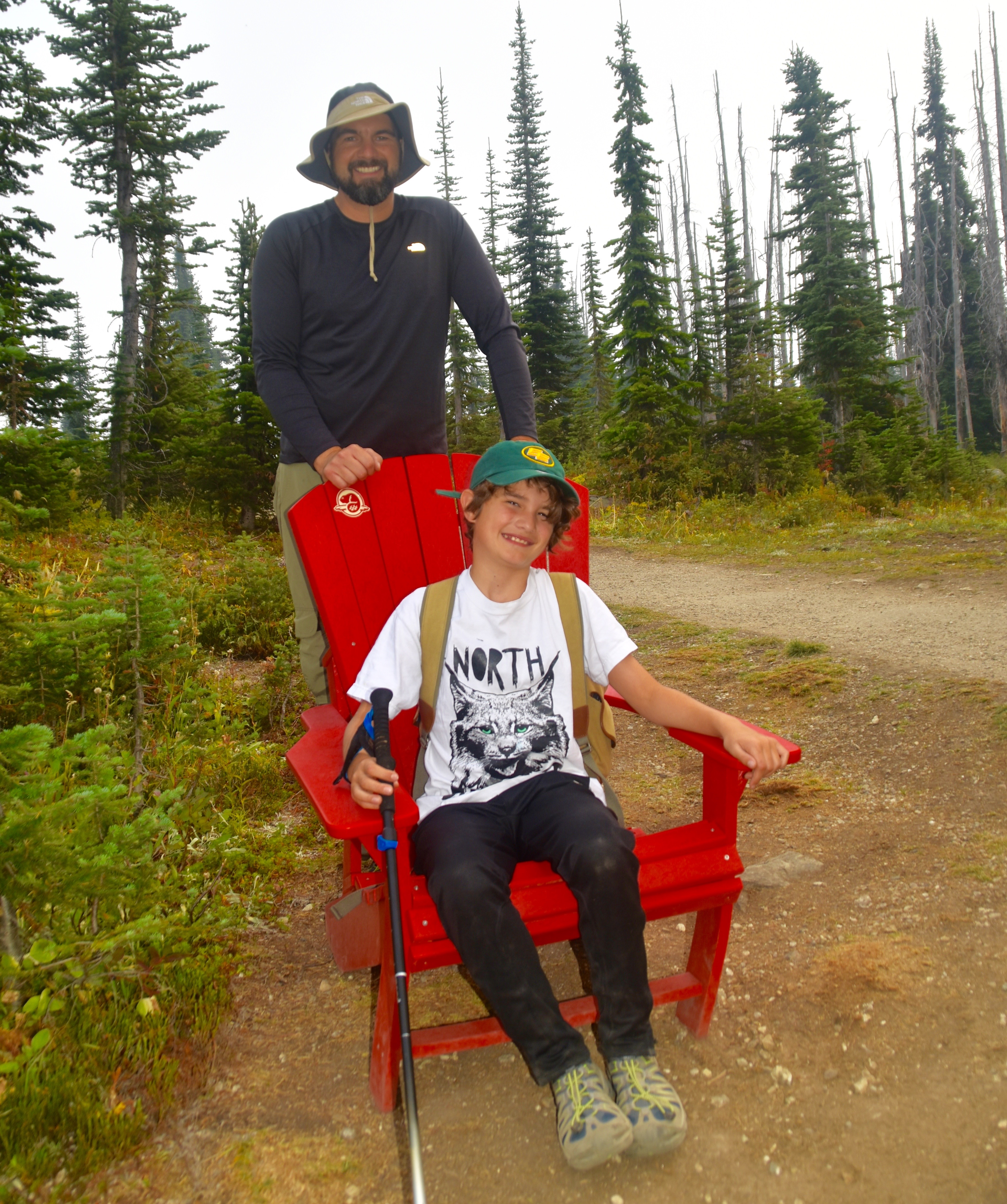Alex & AJ and the Red Chair at Mount Revelstoke
