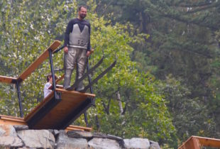 Bruce on the Ski Jump, Mount Revelstoke NP
