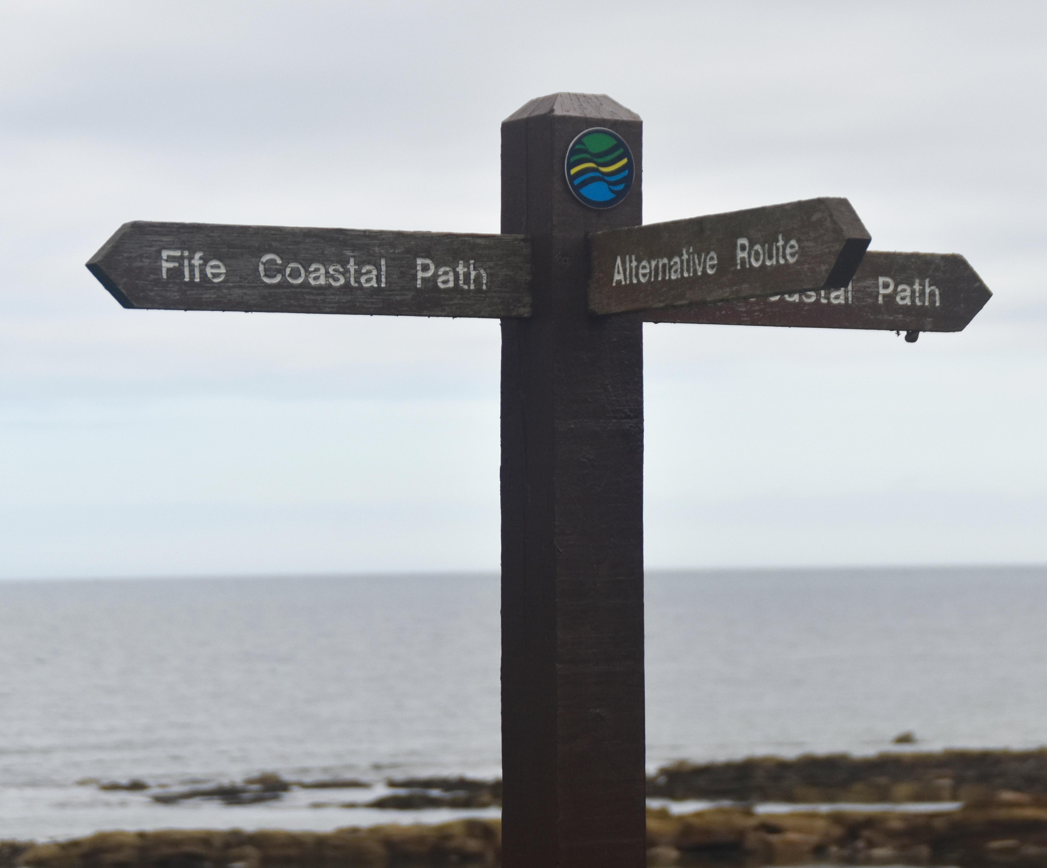 Fife Coastal Path Marker, Kingsbarns