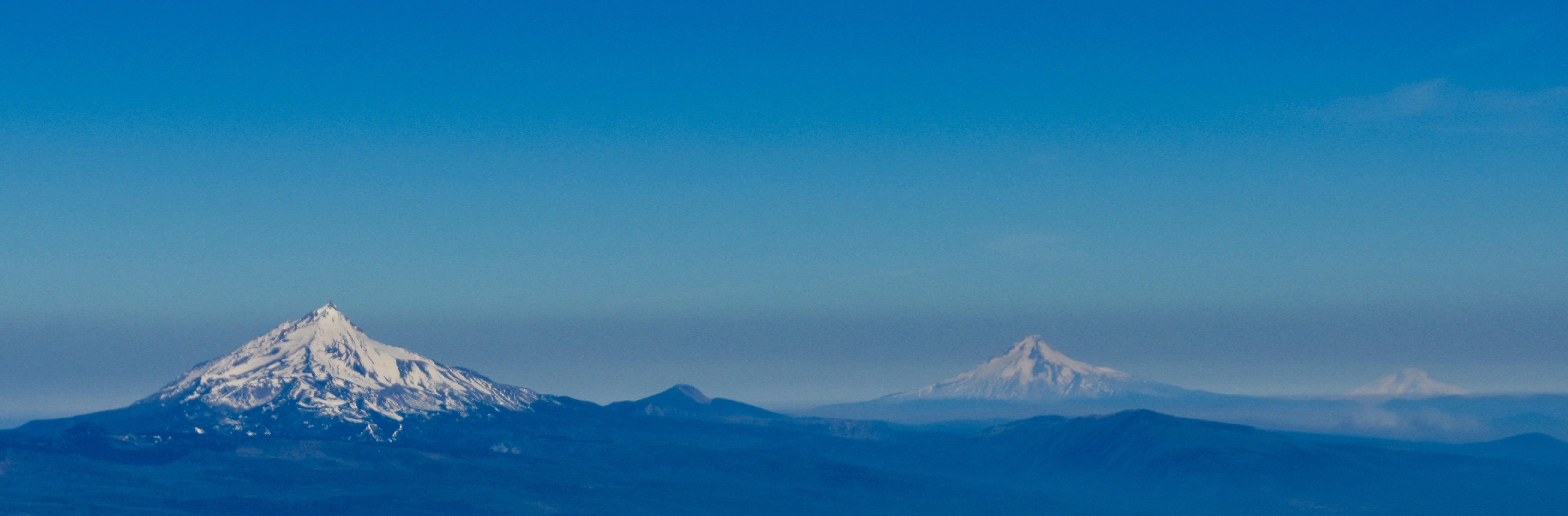 Mount Jefferson, Mount Washington and Mount Hood