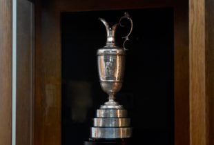 Replica of Claret Jug at Troon