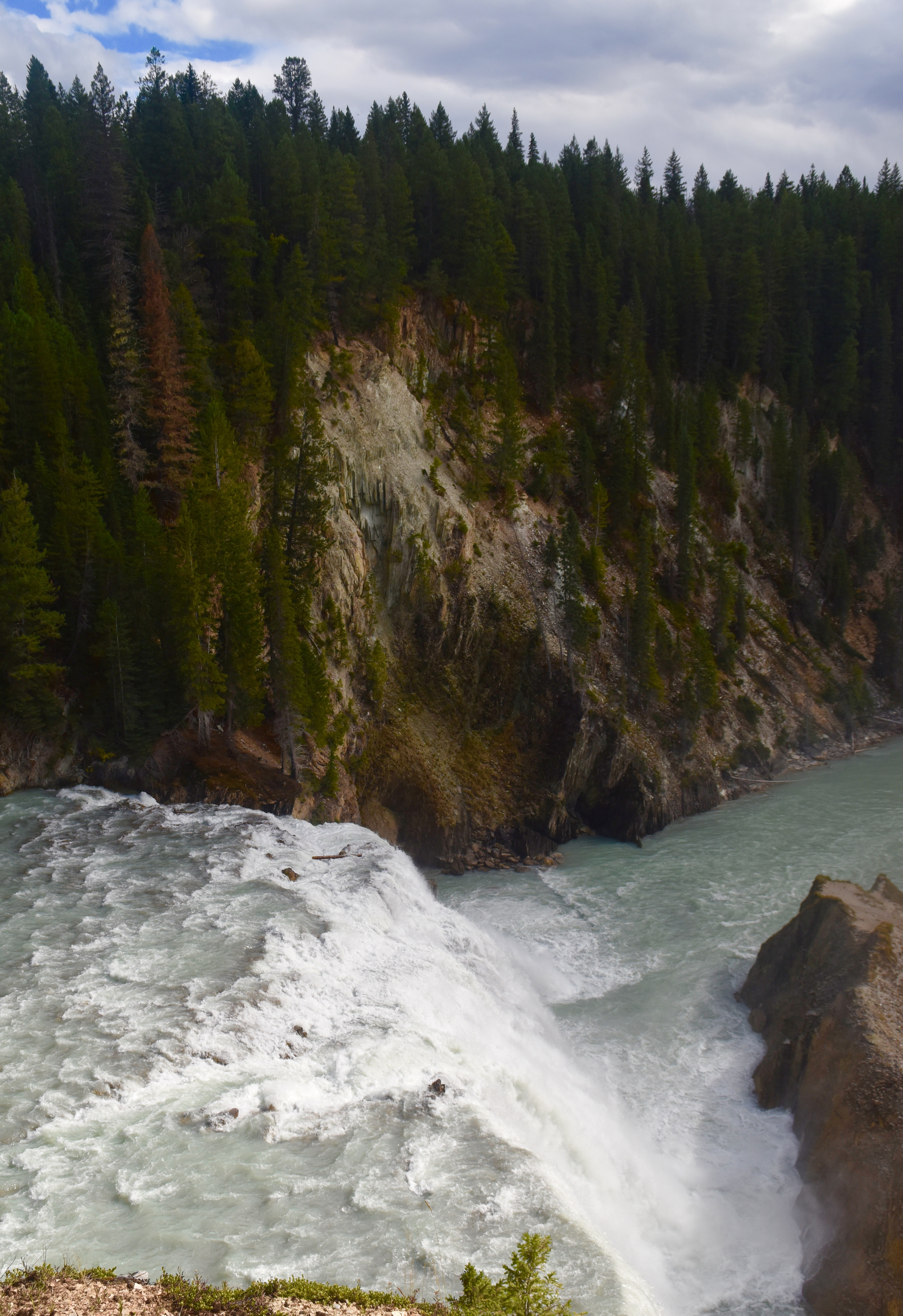 Wapta Falls from Above