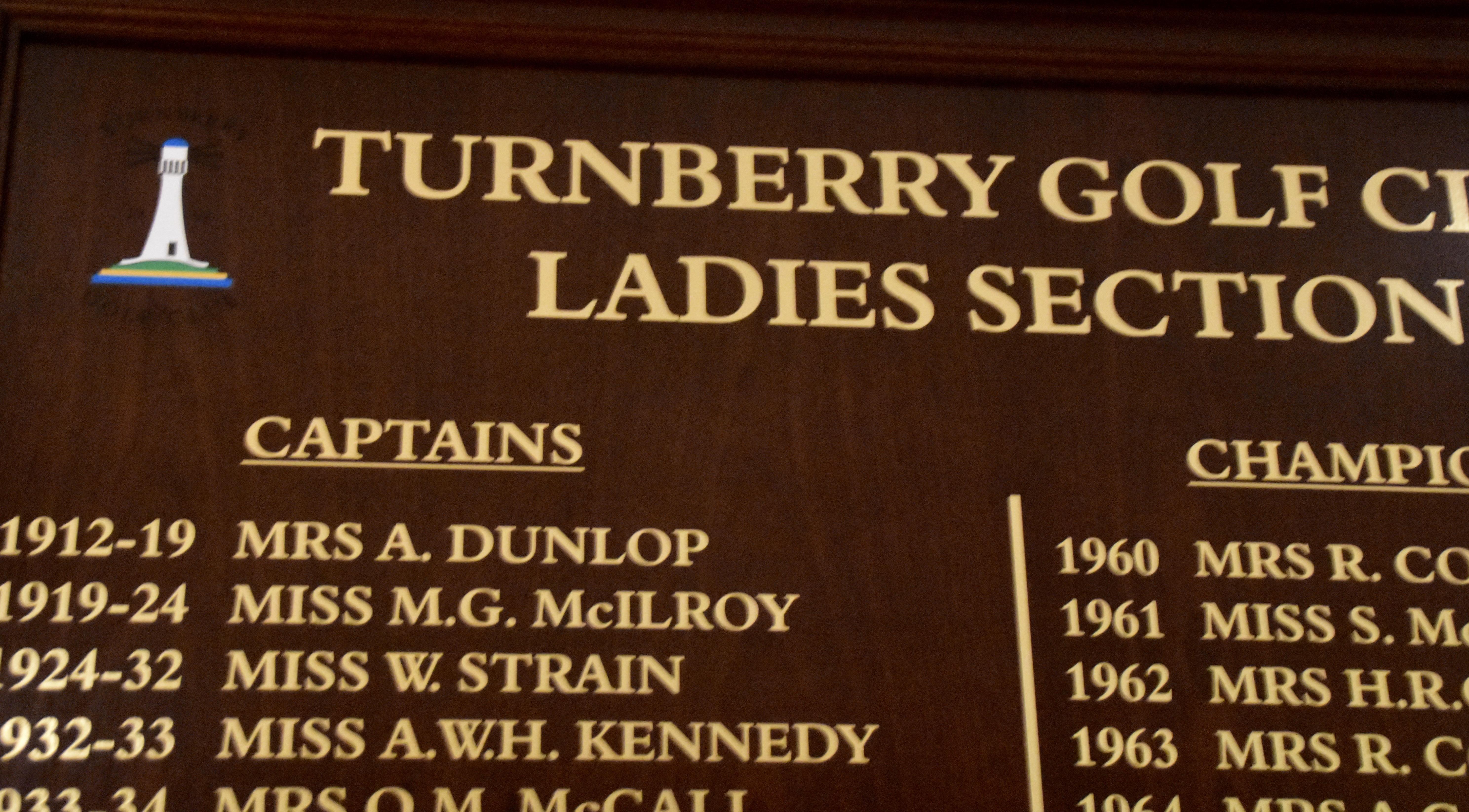 Women's Captain Mrs. A. Dunlop, Turnberry