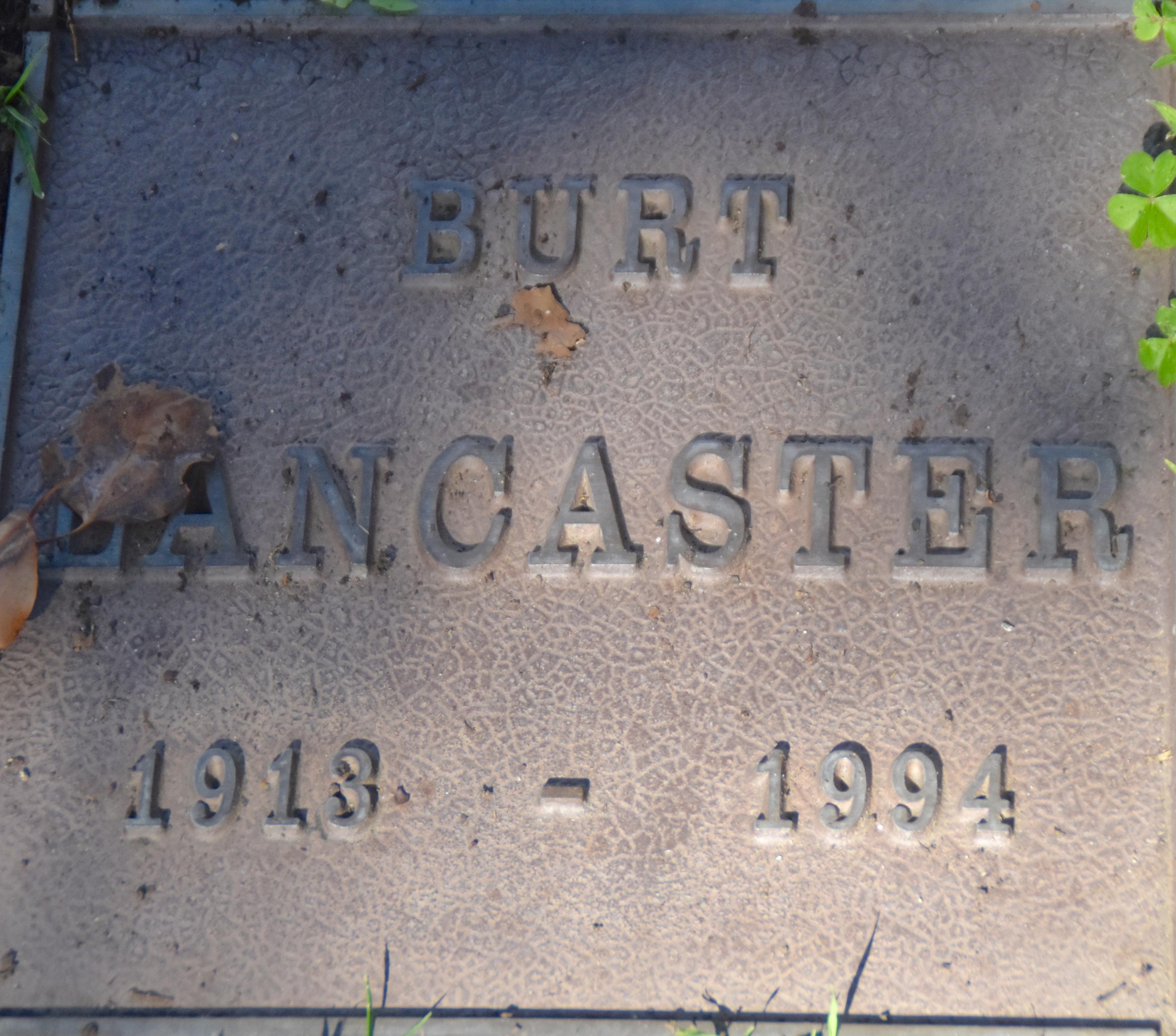 Burt Lancaster, Westwood Village Cemetery