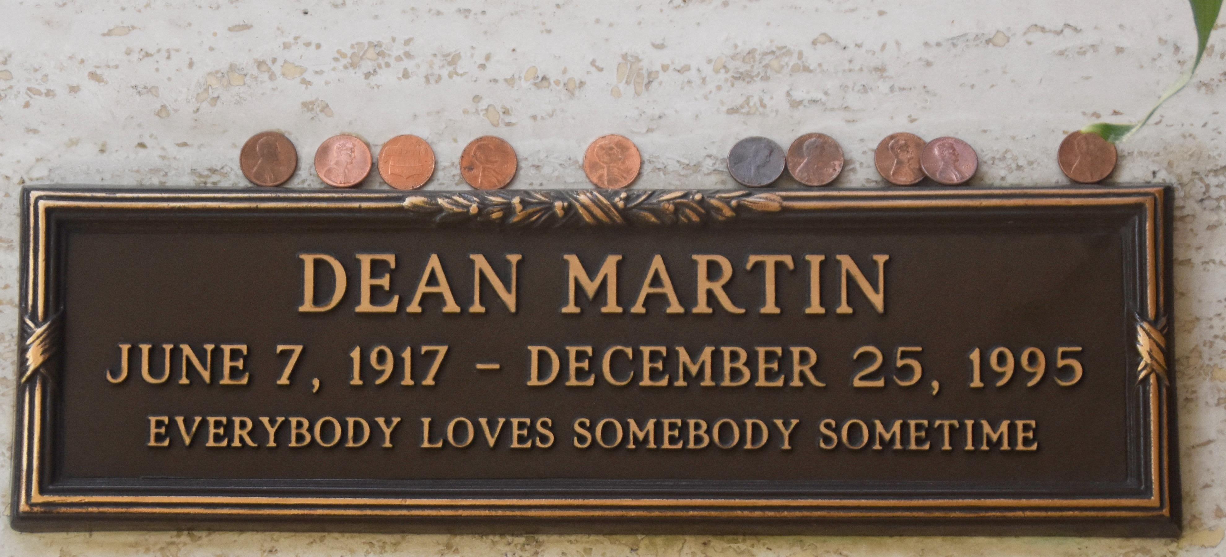 Dean Martin, Westwood Village Cemetery