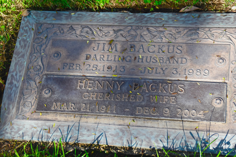 Jim Backus, Westwood Village Cemetery