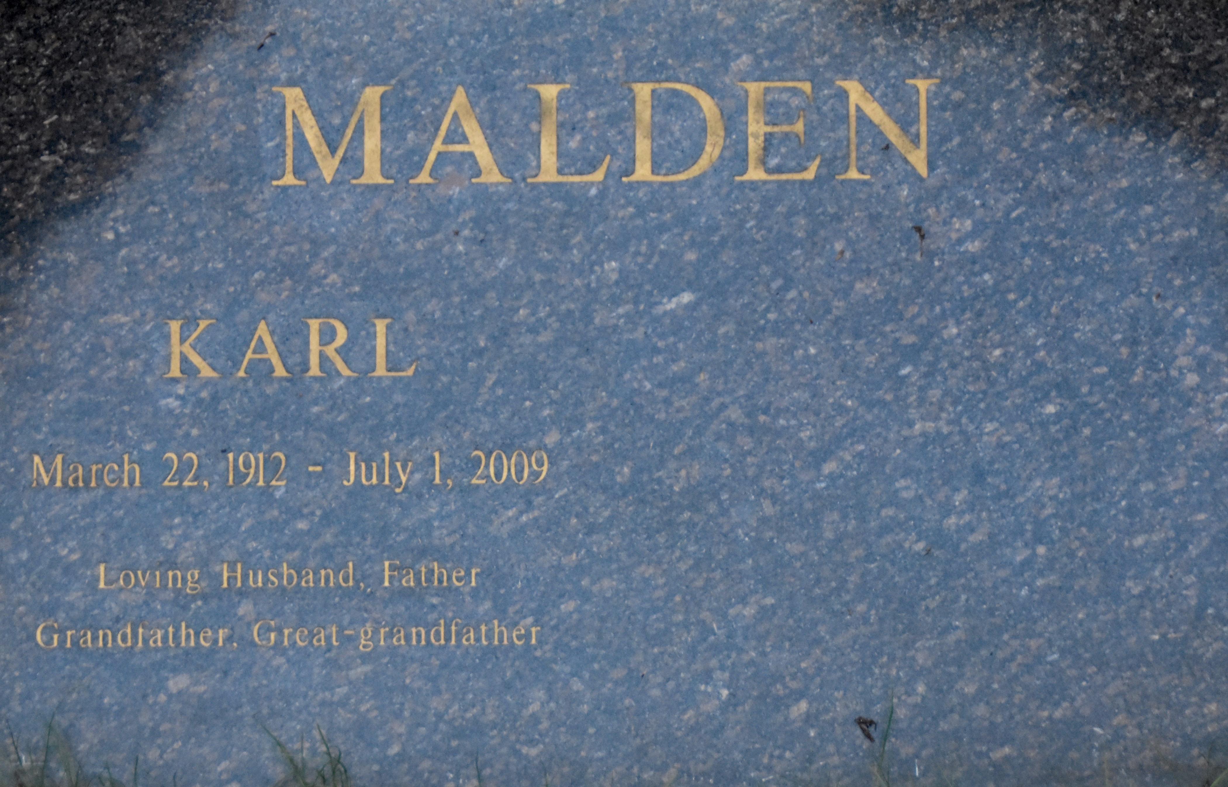Karl Malden, Westwood Village Cemetery