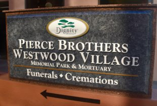 Westwood Village Cemetery Sign