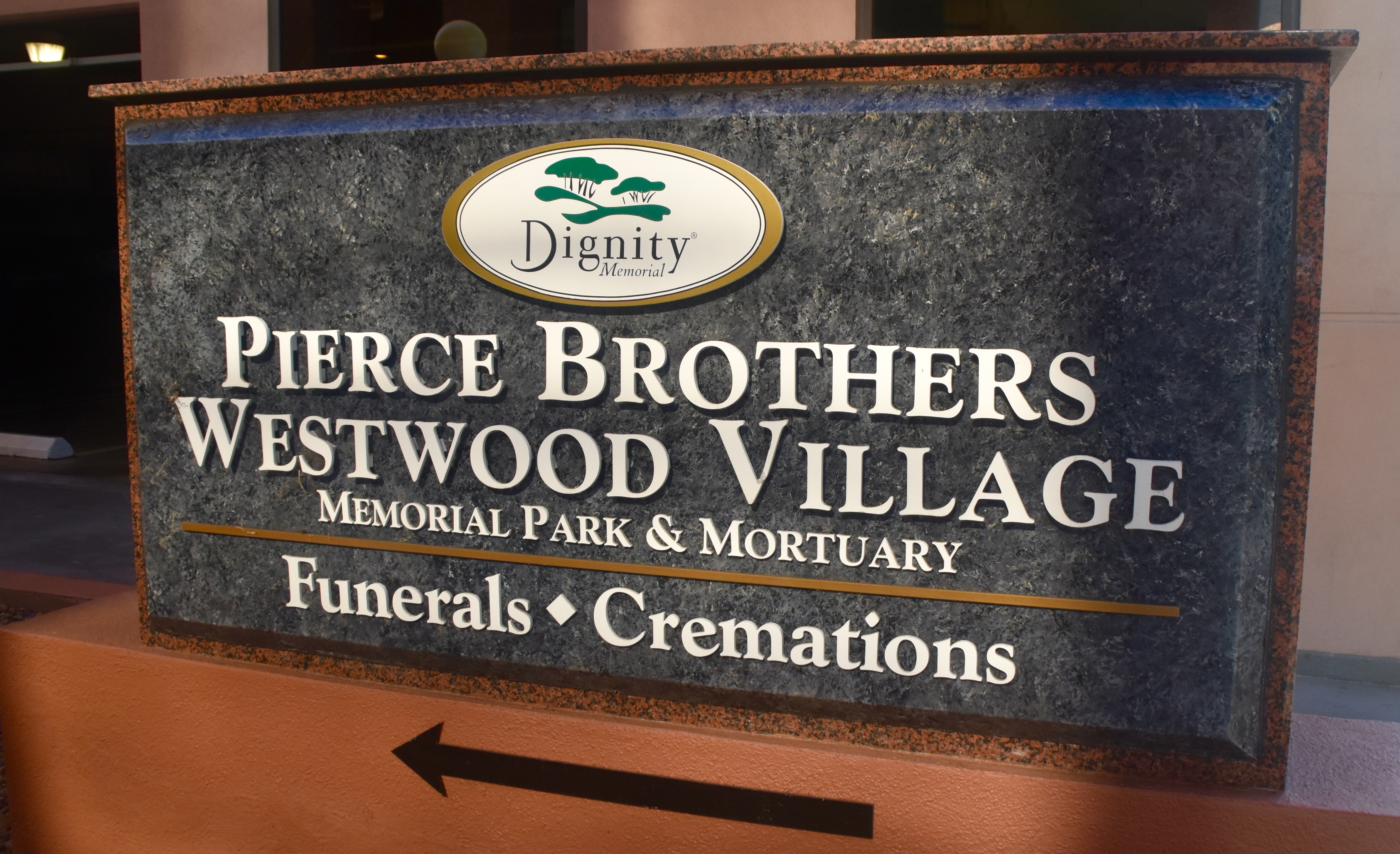 Westwood Village Cemetery Sign