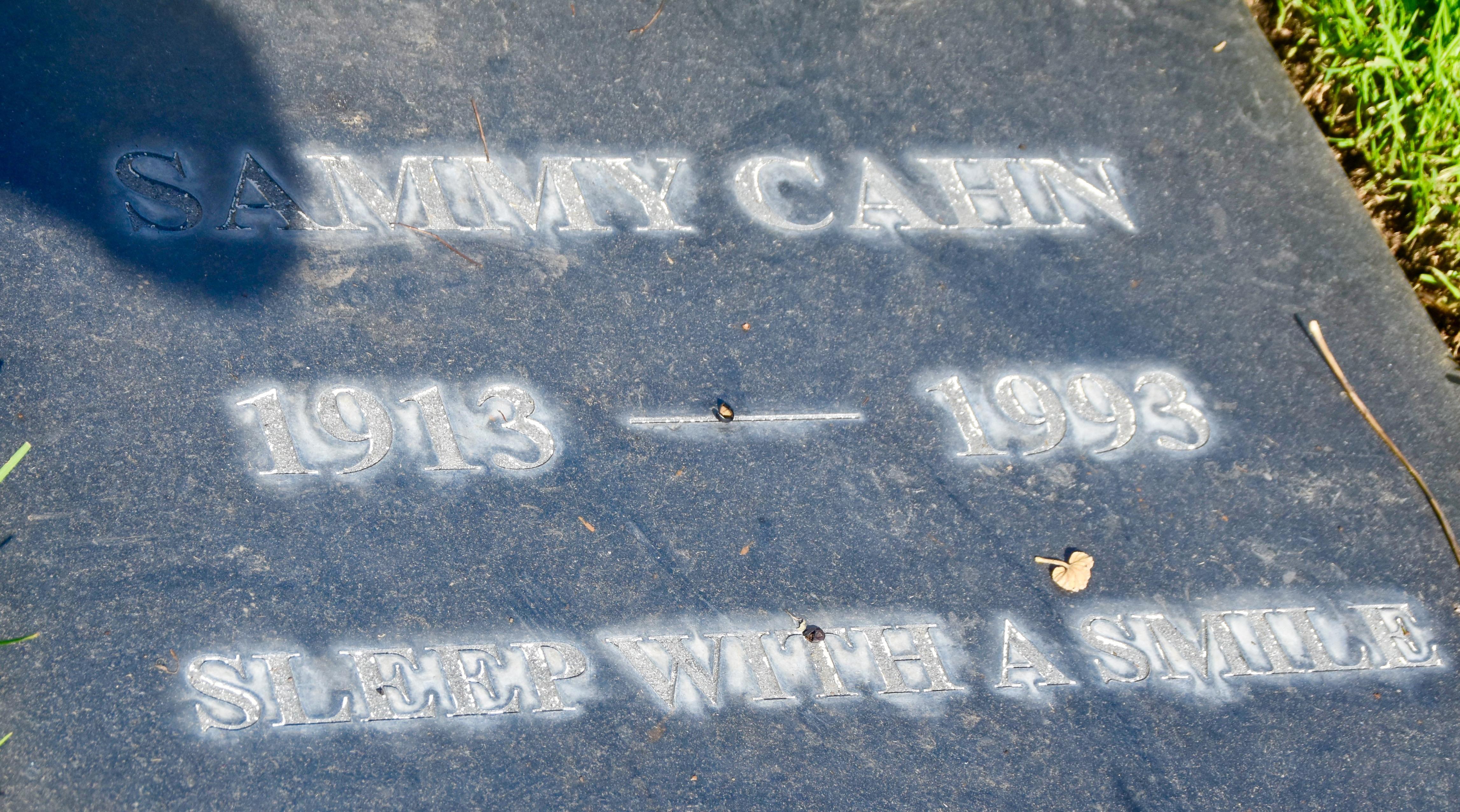 Sammy Cahn, Westwood Village Cemetery