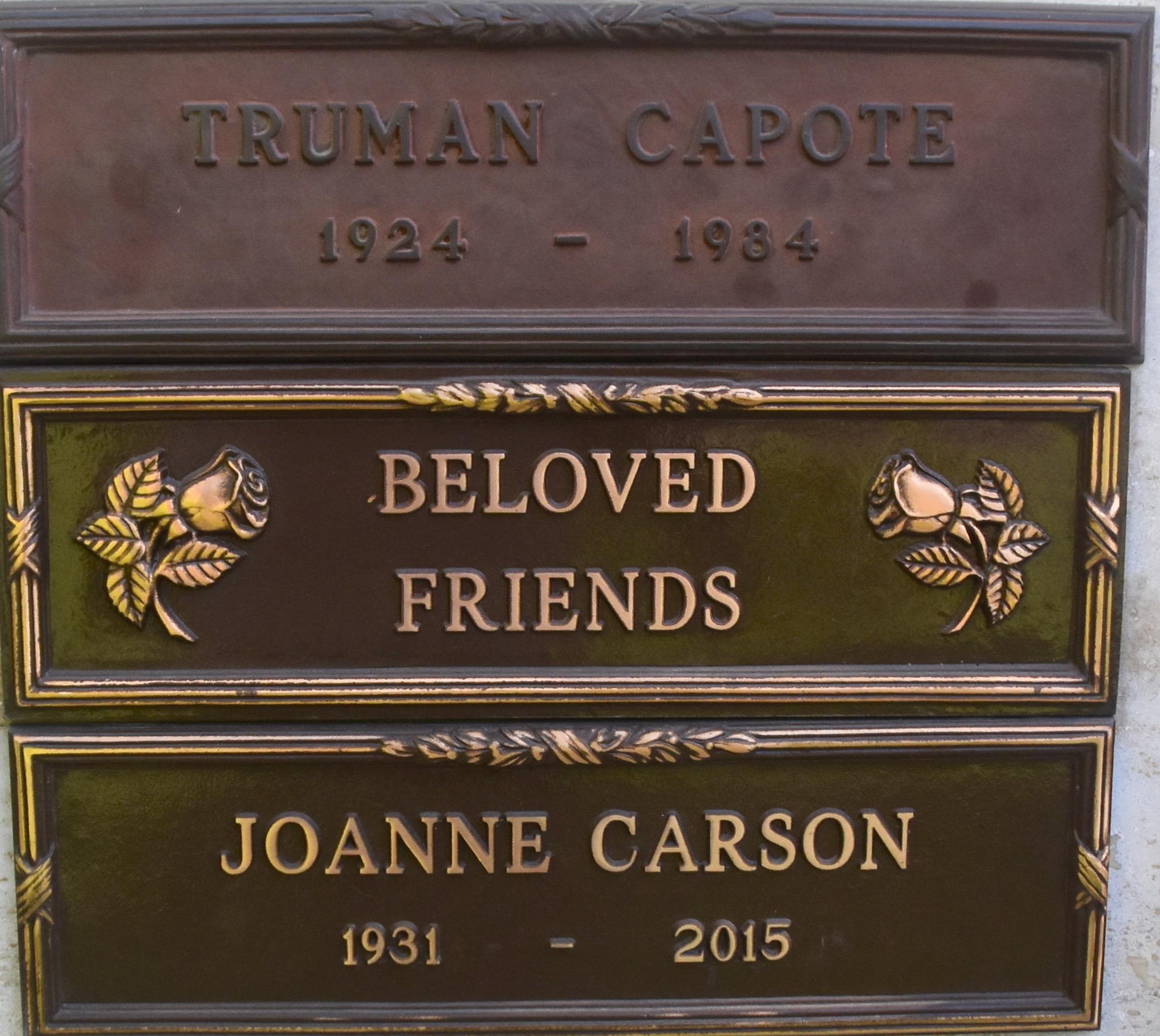 Truman Capote:Joanne Carson, Westwood Village Cemetery
