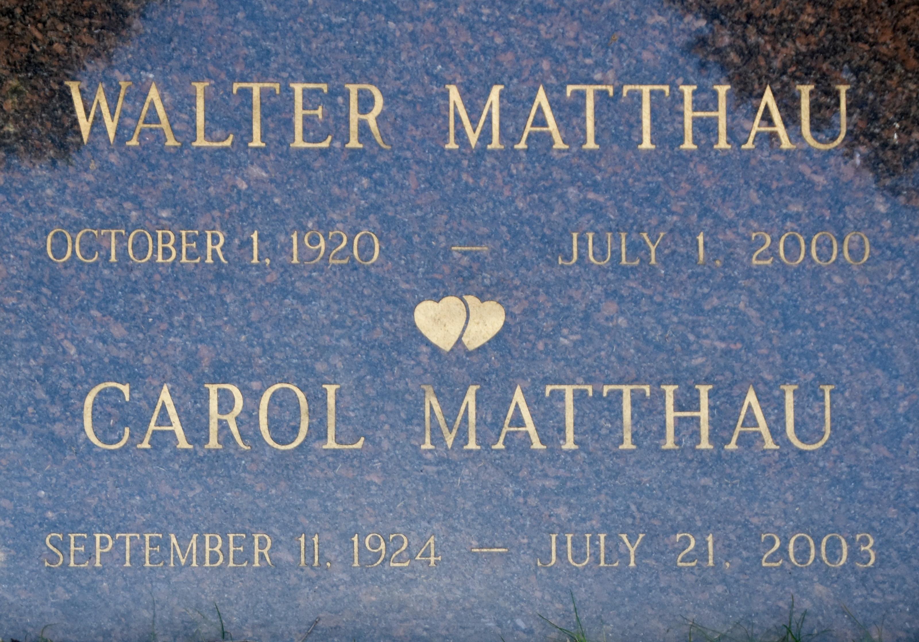 Walter Matthau, Westwood Village Cemetery