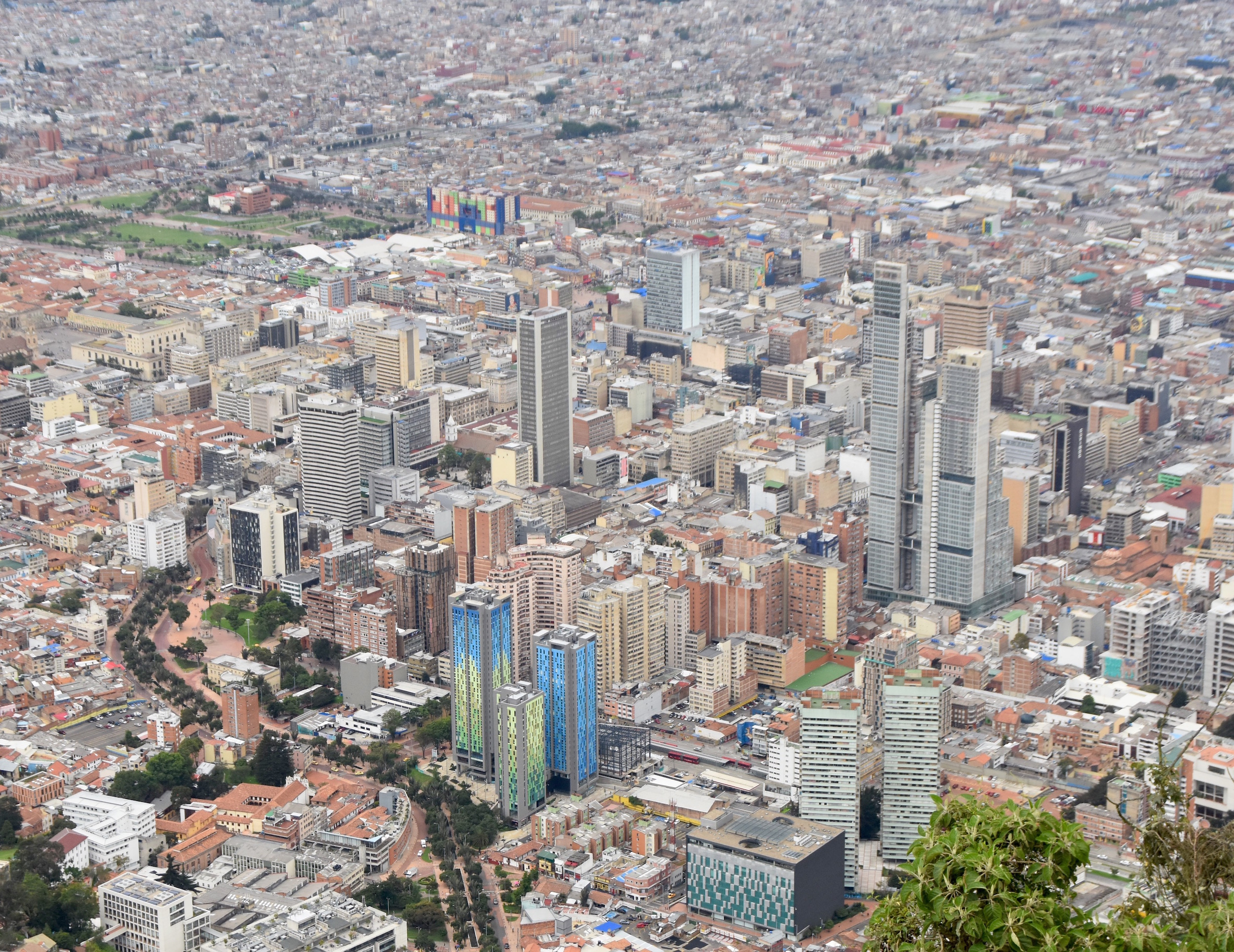 Downtown Bogota from Monserrate