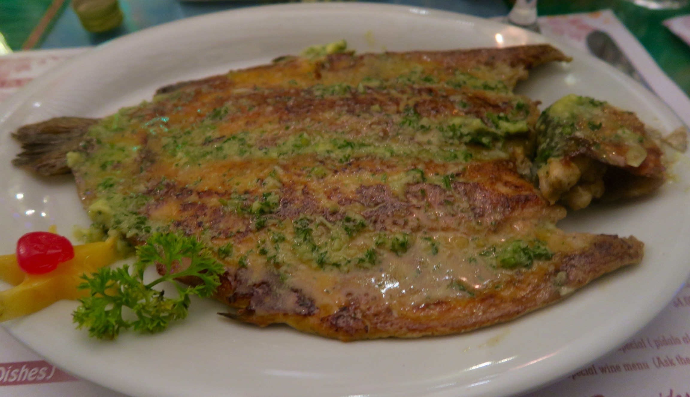 Trout with Garlic, Donde Laurita