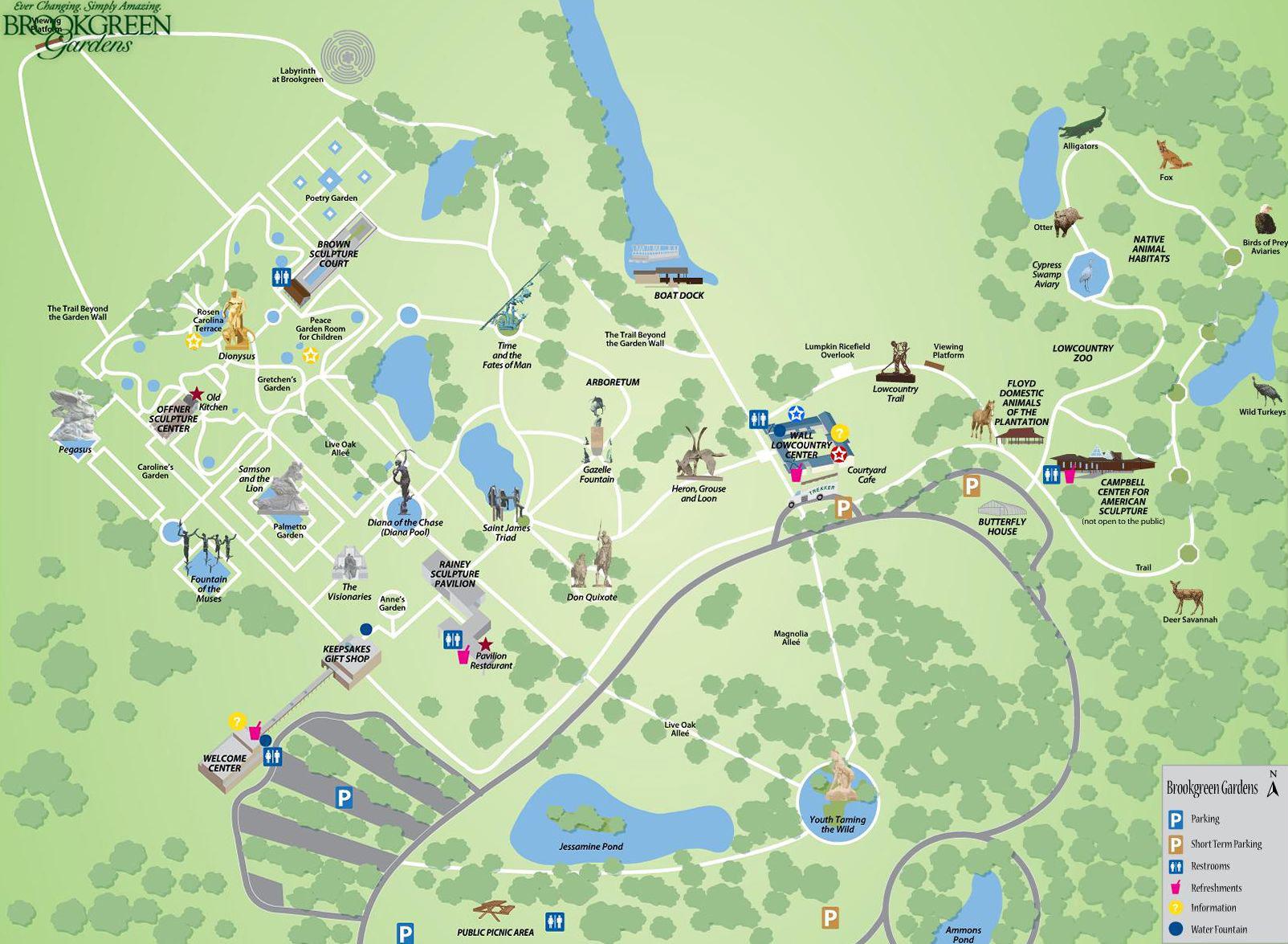 Map Of Brookgreen Gardens