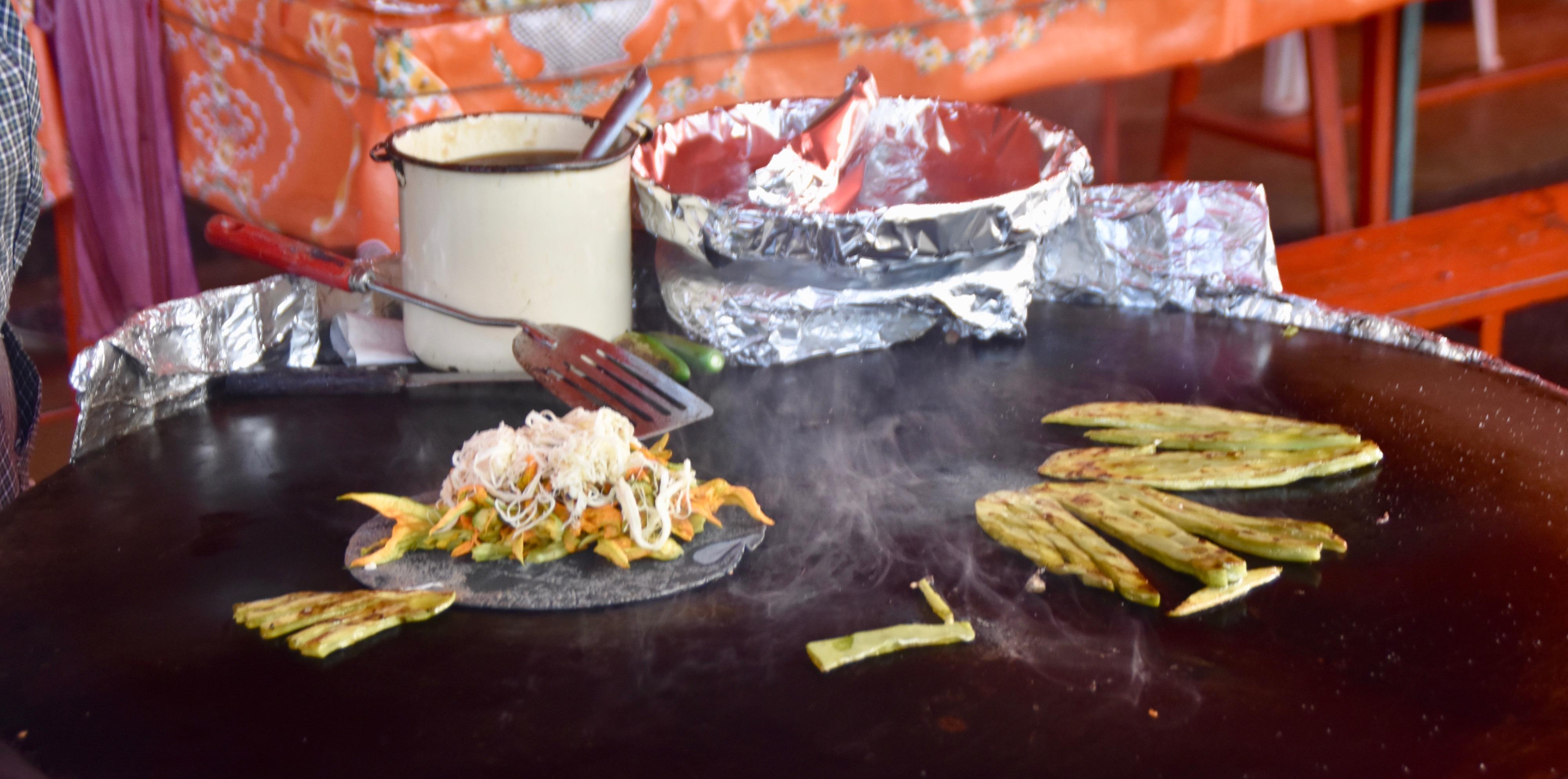 Nopal (Prickly Pear) Tacos, Cacaxatla