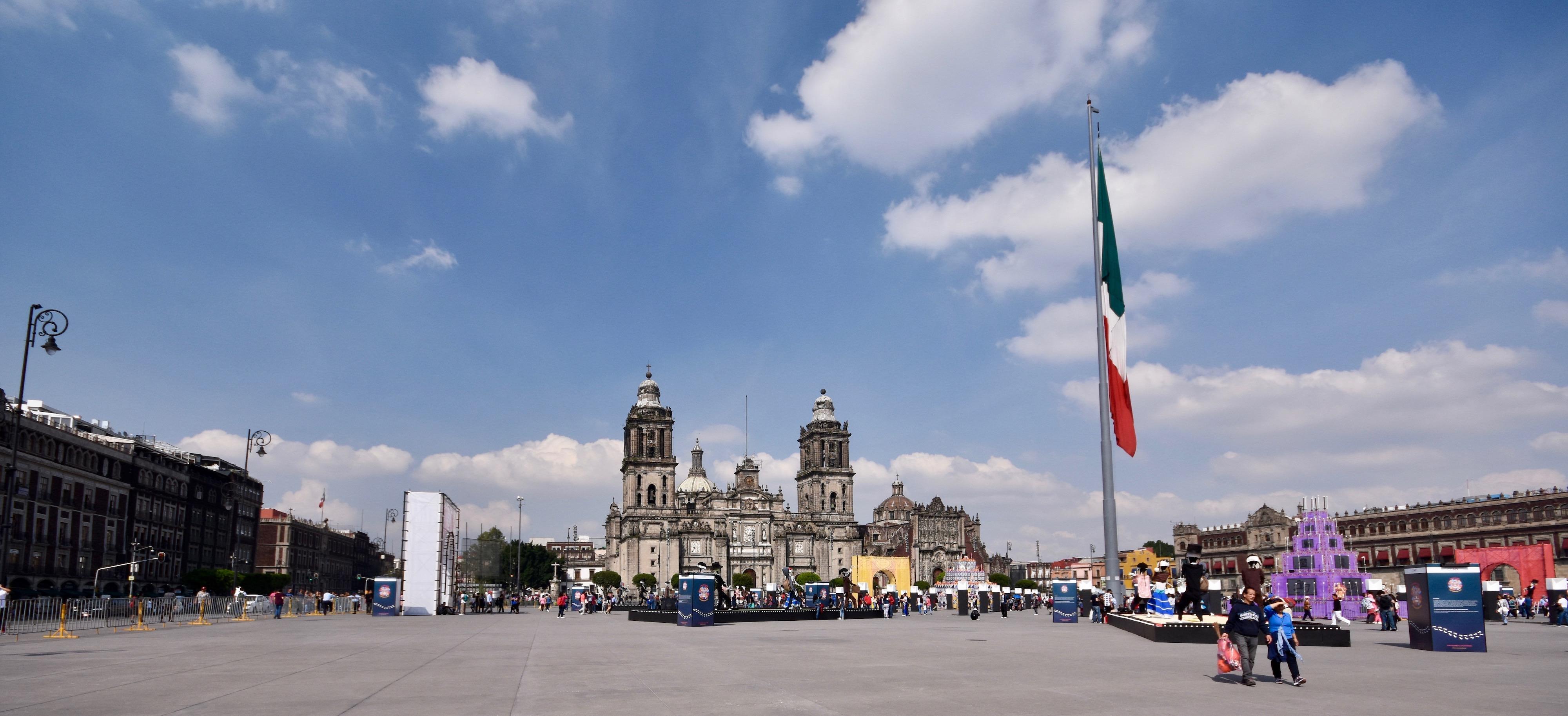 Zocalo Wide Angle, Mexico City