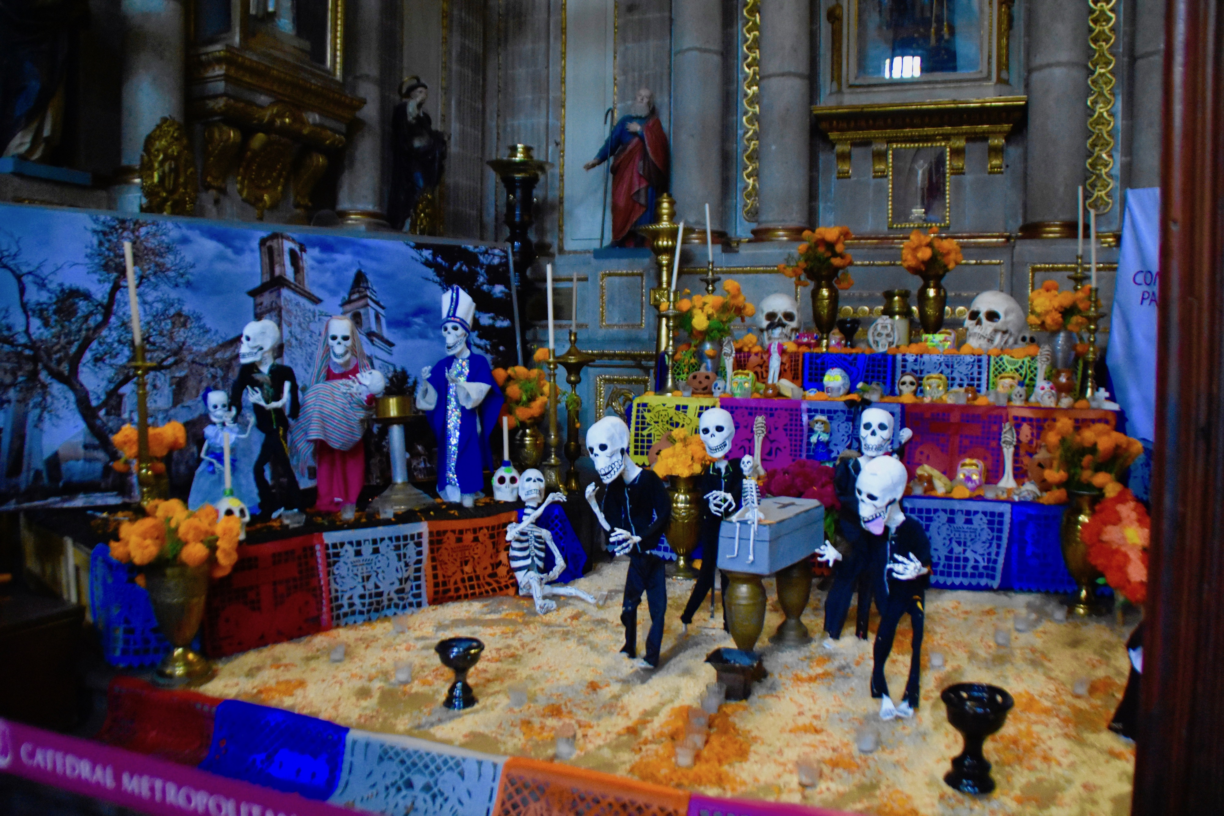 Cathedral Muertes Altar, Mexico City