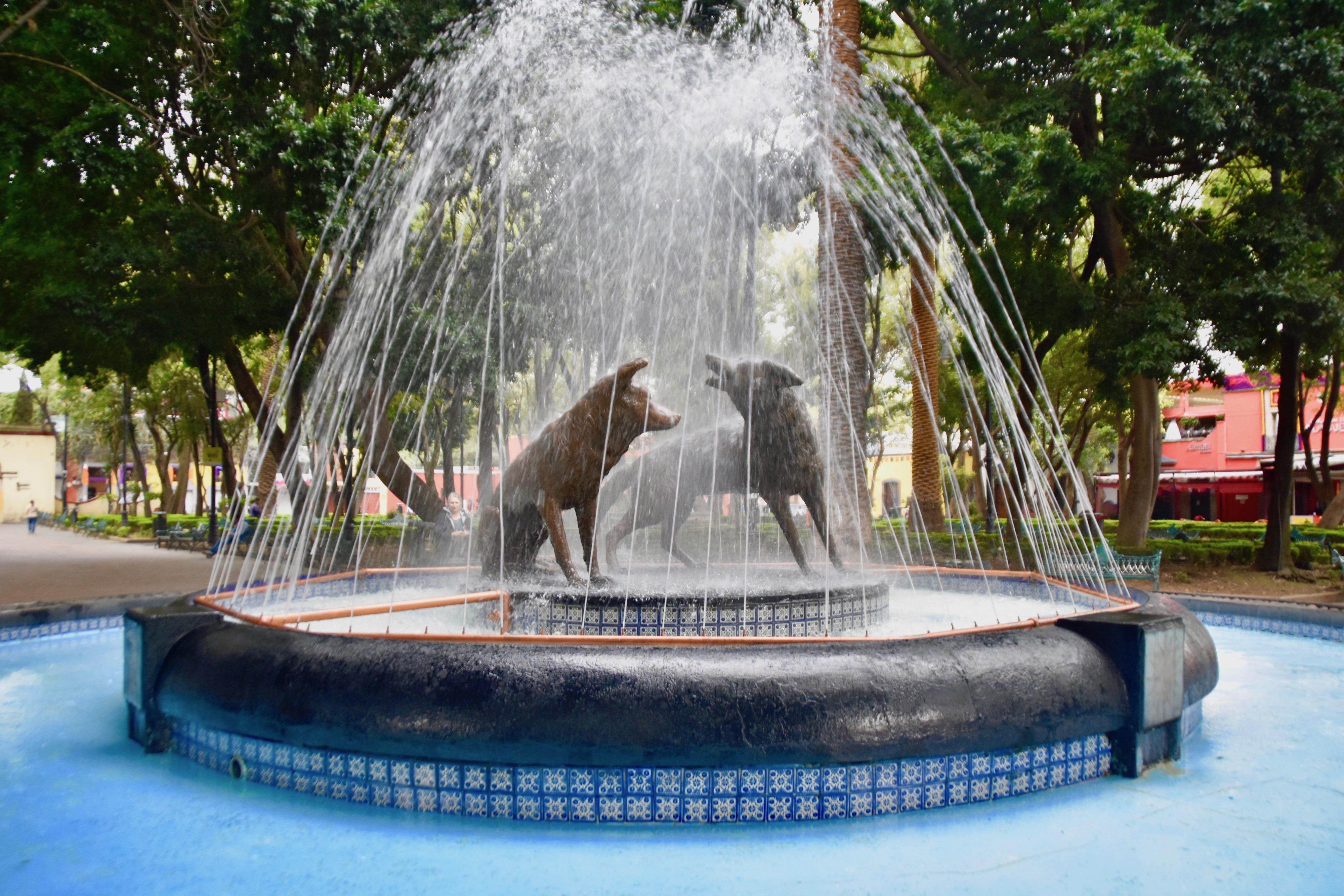 Coyotes Fountain, Coyoacan