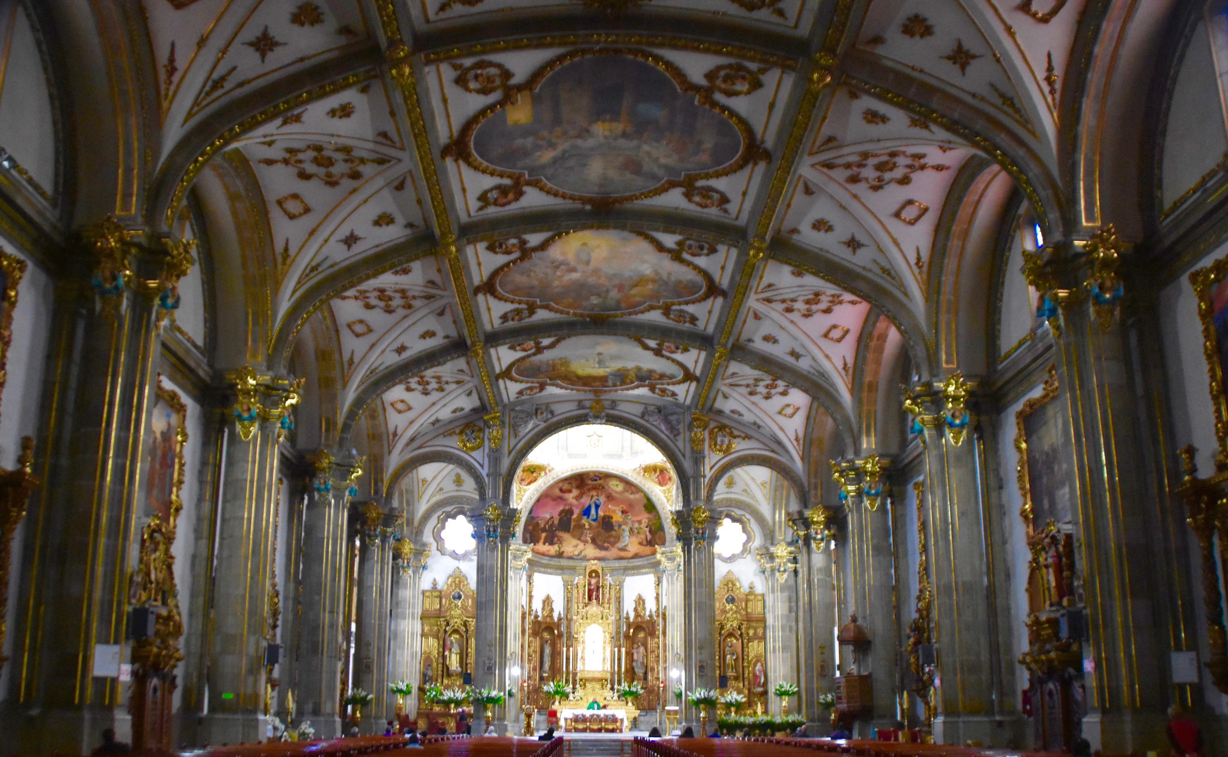 Interior, San Juan Bautista, Coyoacan