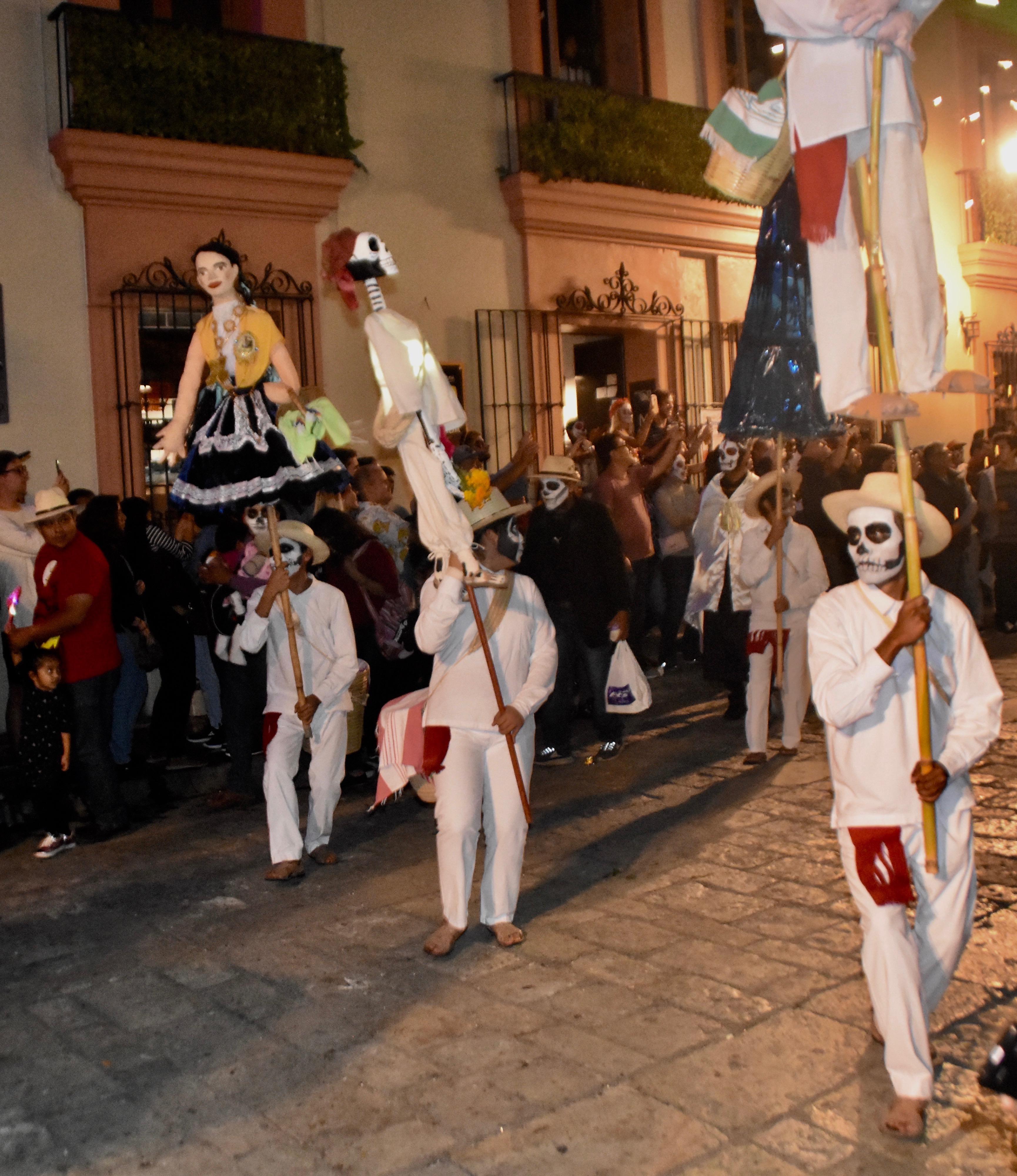 Skeleton Walkers, Day of the Dead parade, Oaxaca