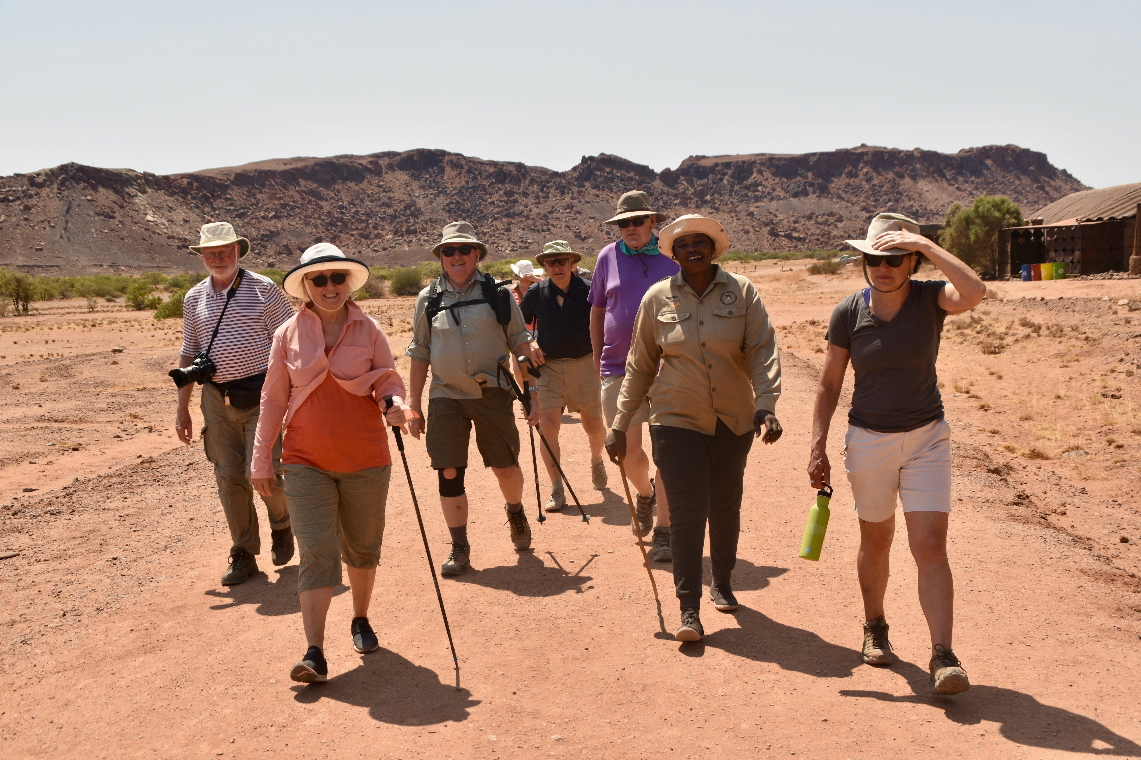 Heading to the Rock Carvings at Twyfelfontein