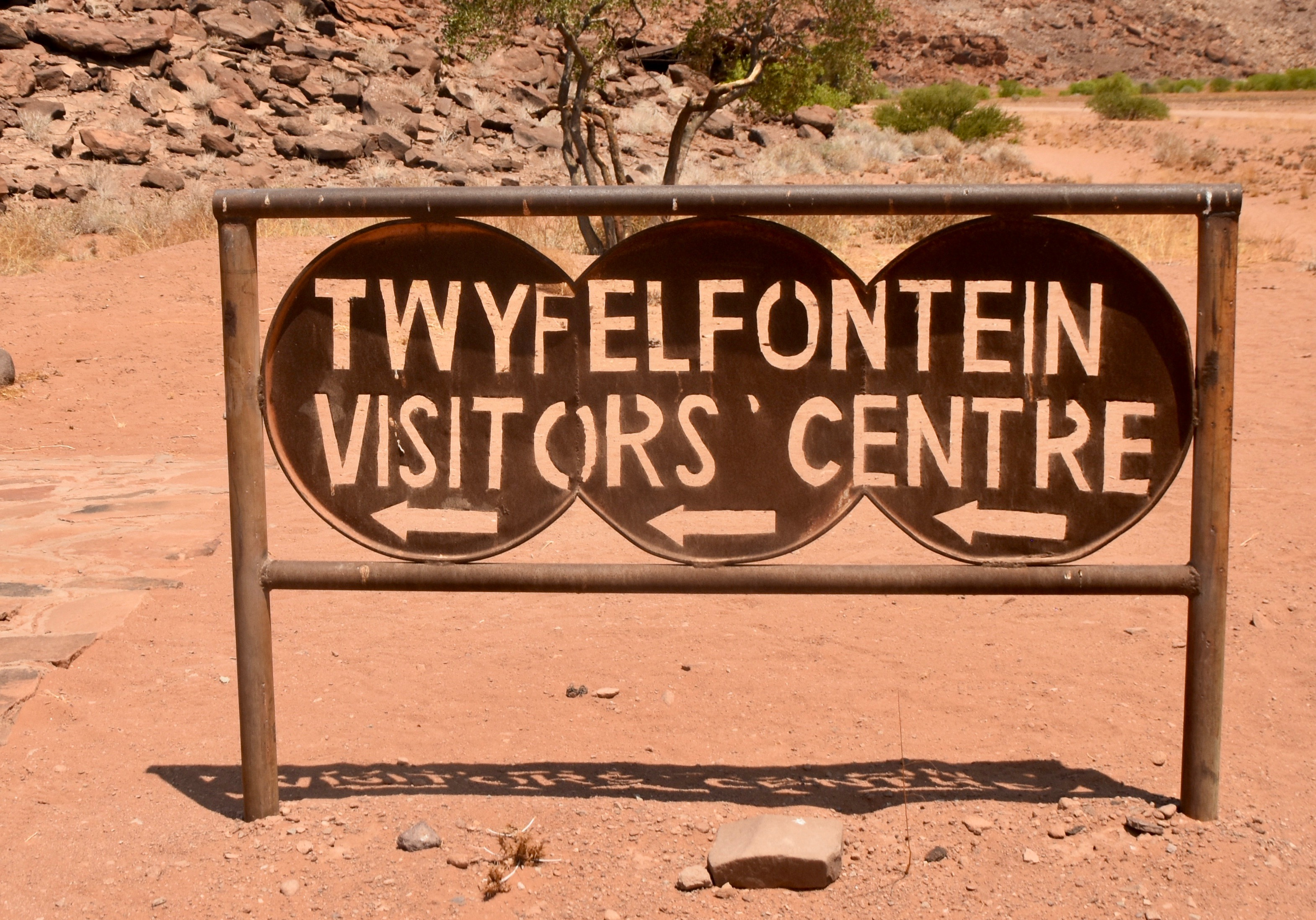 Visitor's Centre Sign, Twyfelfontein