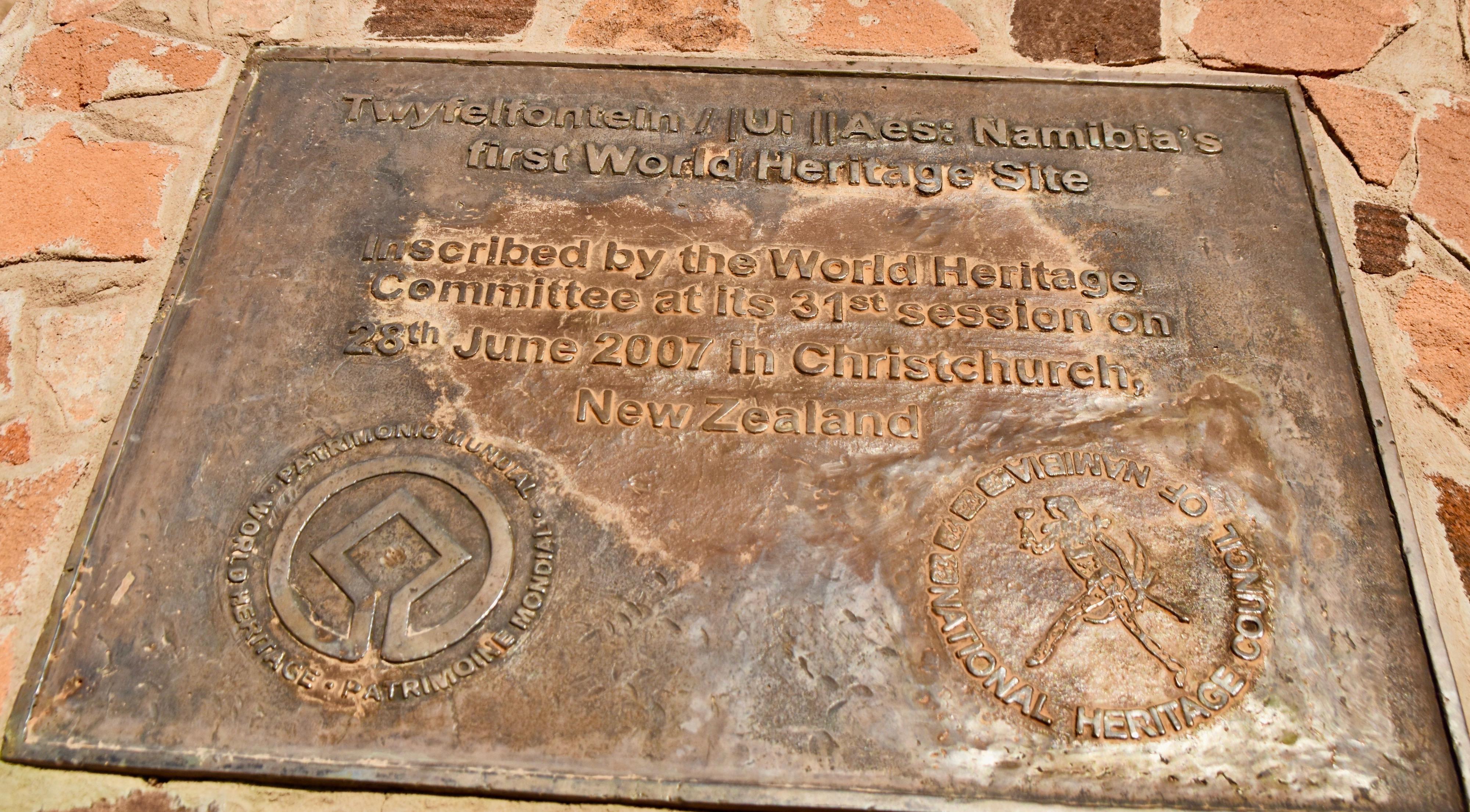 World Heritage Site, Twyfelfontein