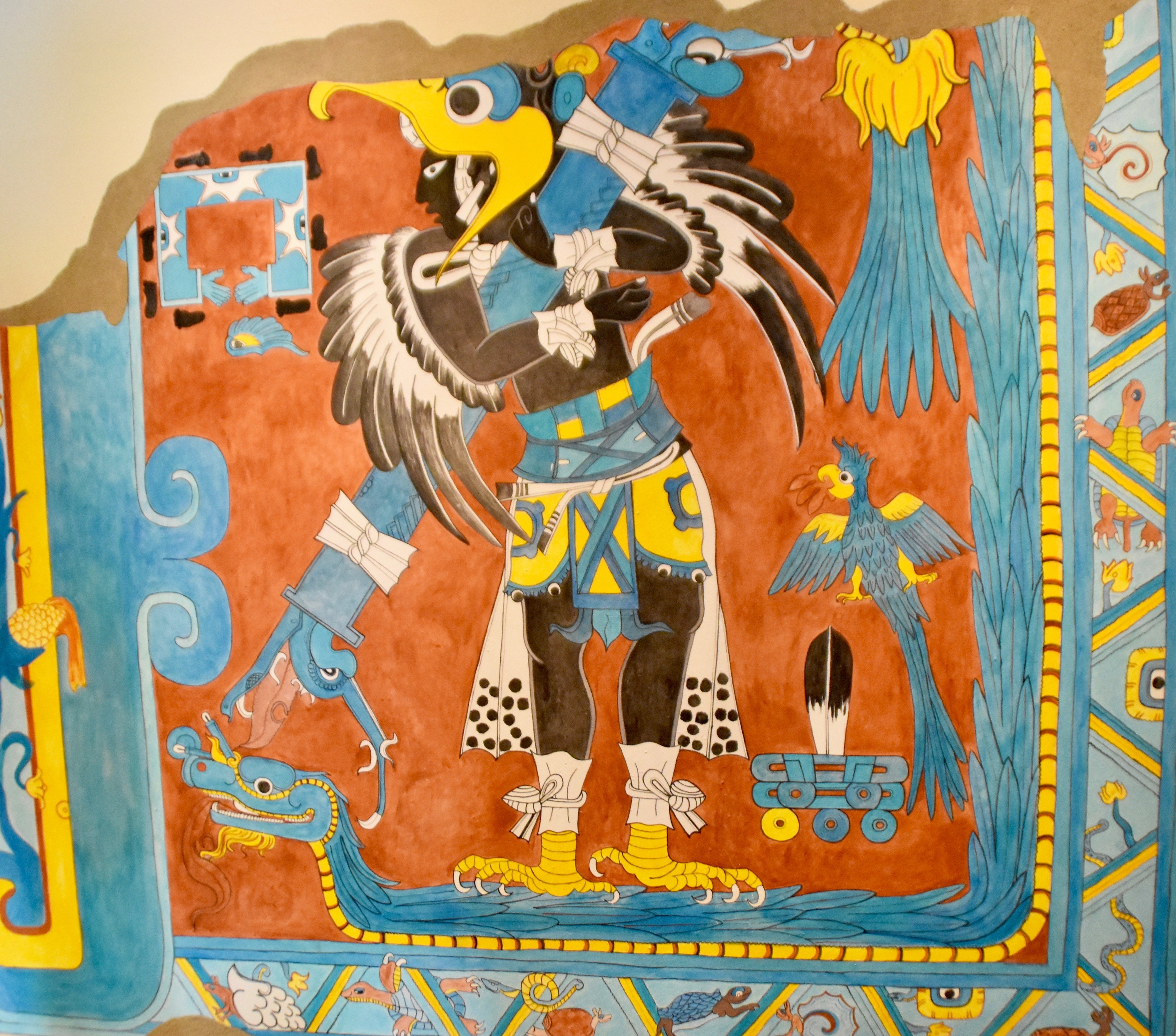 Copy of the Man-Bird Mural, Cacaxtla