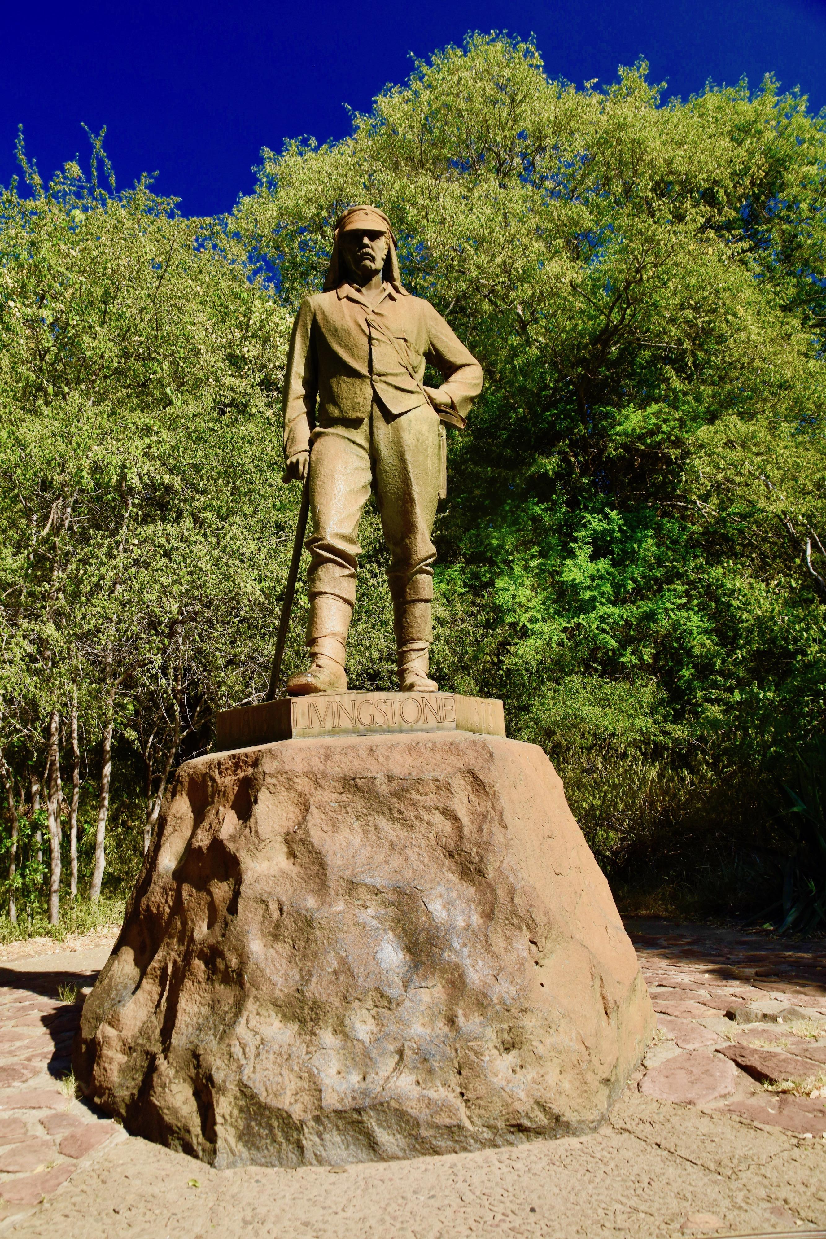 Statue of Livingstone at Victoria Falls